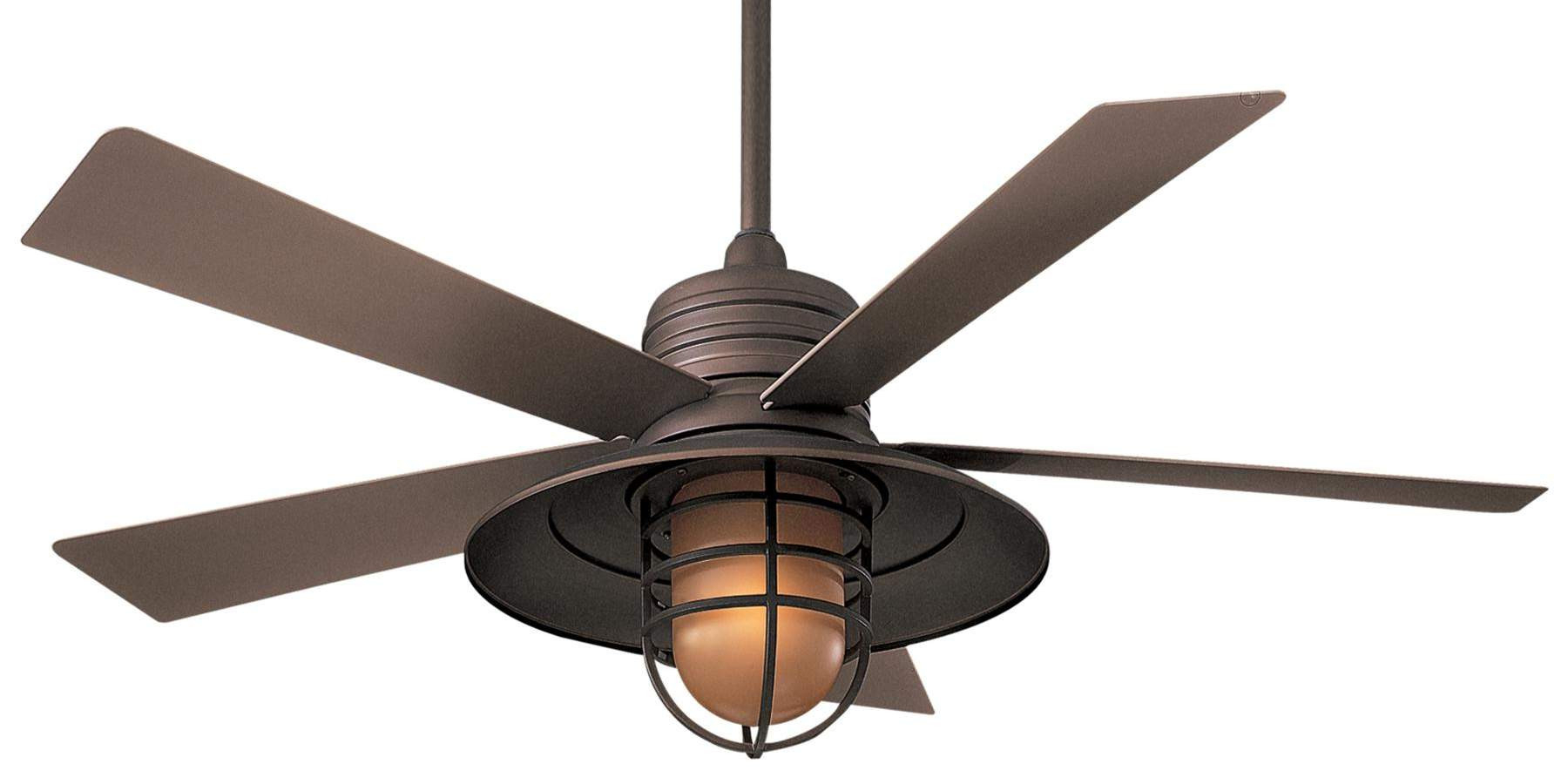 2020 Minka Aire Rainman Ceiling Fan Model F582 Orb In Oil Rubbed Intended For Rainman 5 Blade Outdoor Ceiling Fans (View 19 of 20)