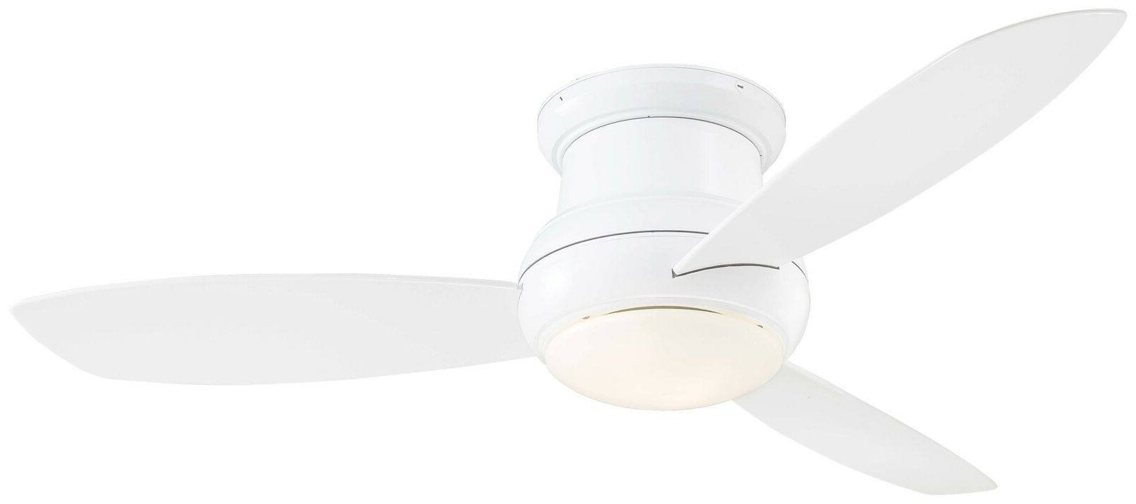 """2020 Minkaaire F474L Wh 3 Blade 52"""" Concept Ii In/outdoor Ceiling Fan Regarding Concept Ii 3 Blade Ceiling Fans (View 1 of 20)"""