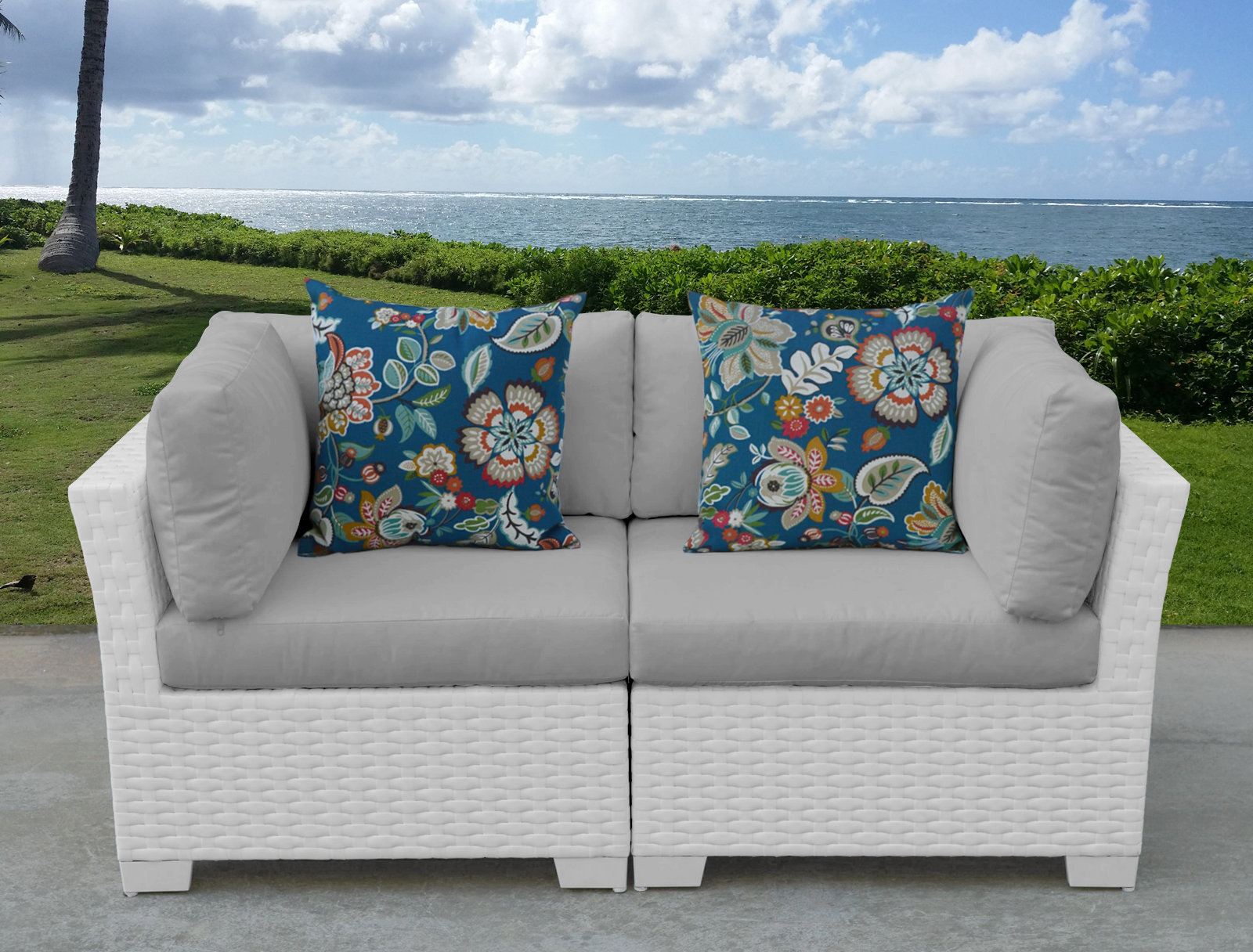 2020 Monaco Loveseat With Cushions With Mendelson Loveseats With Cushion (View 1 of 20)