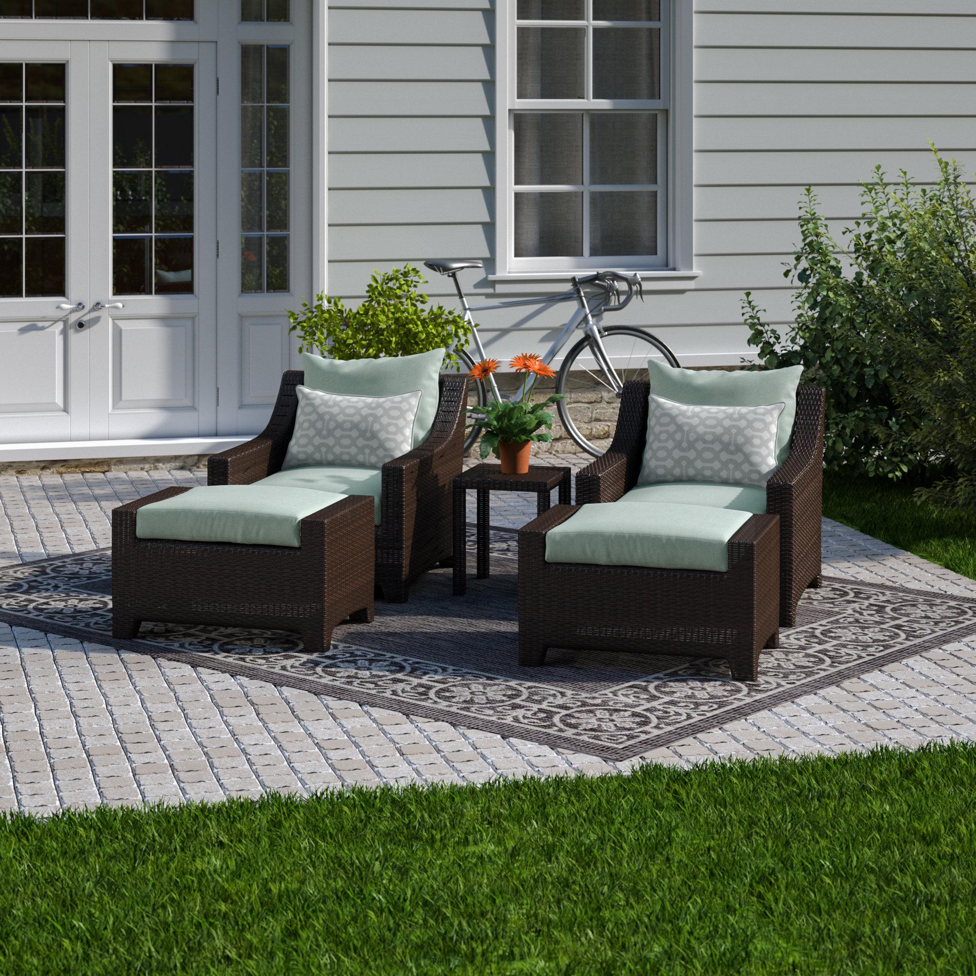 2020 Northridge 5 Piece Conversation Set With Sunbrella Cushions Regarding Northridge Patio Sofas With Sunbrella Cushions (Gallery 20 of 20)