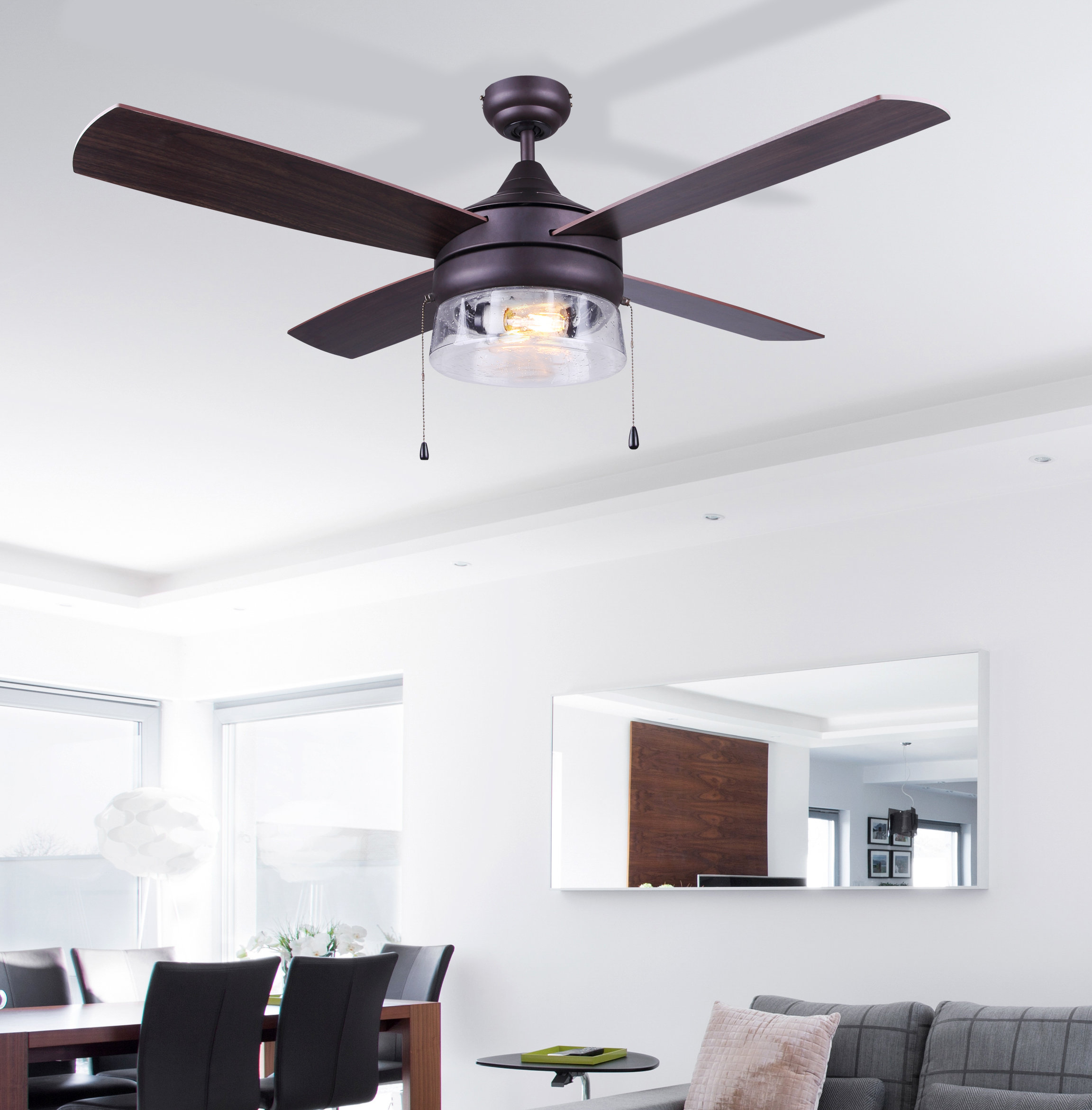 "2020 O'hanlon 5 Blade Led Ceiling Fans With Regard To 48"" Renderos 4 Blade Led Ceiling Fan (Gallery 16 of 20)"