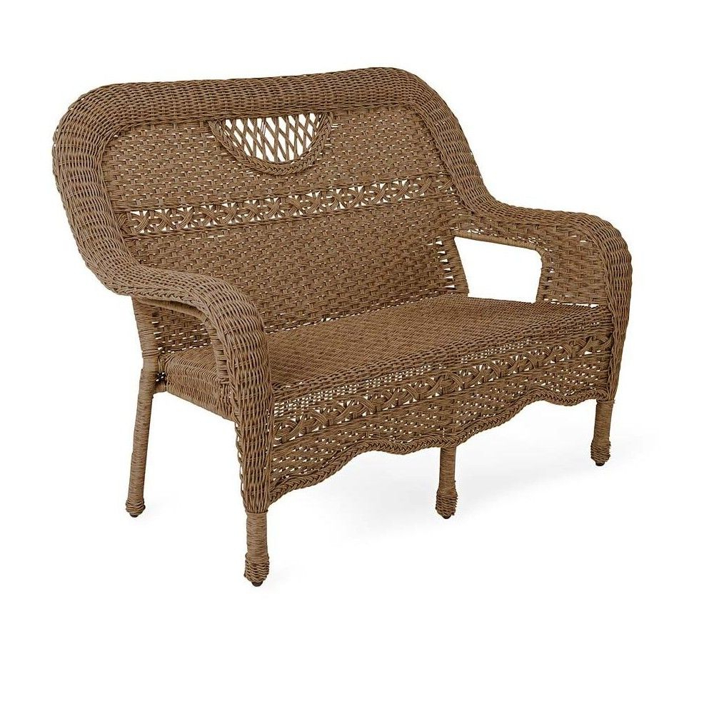 2020 Prospect Hill All Weather Wicker Settee, Beach House Walnut Pertaining To Prospect Hill Wicker Settee Benches (View 1 of 20)