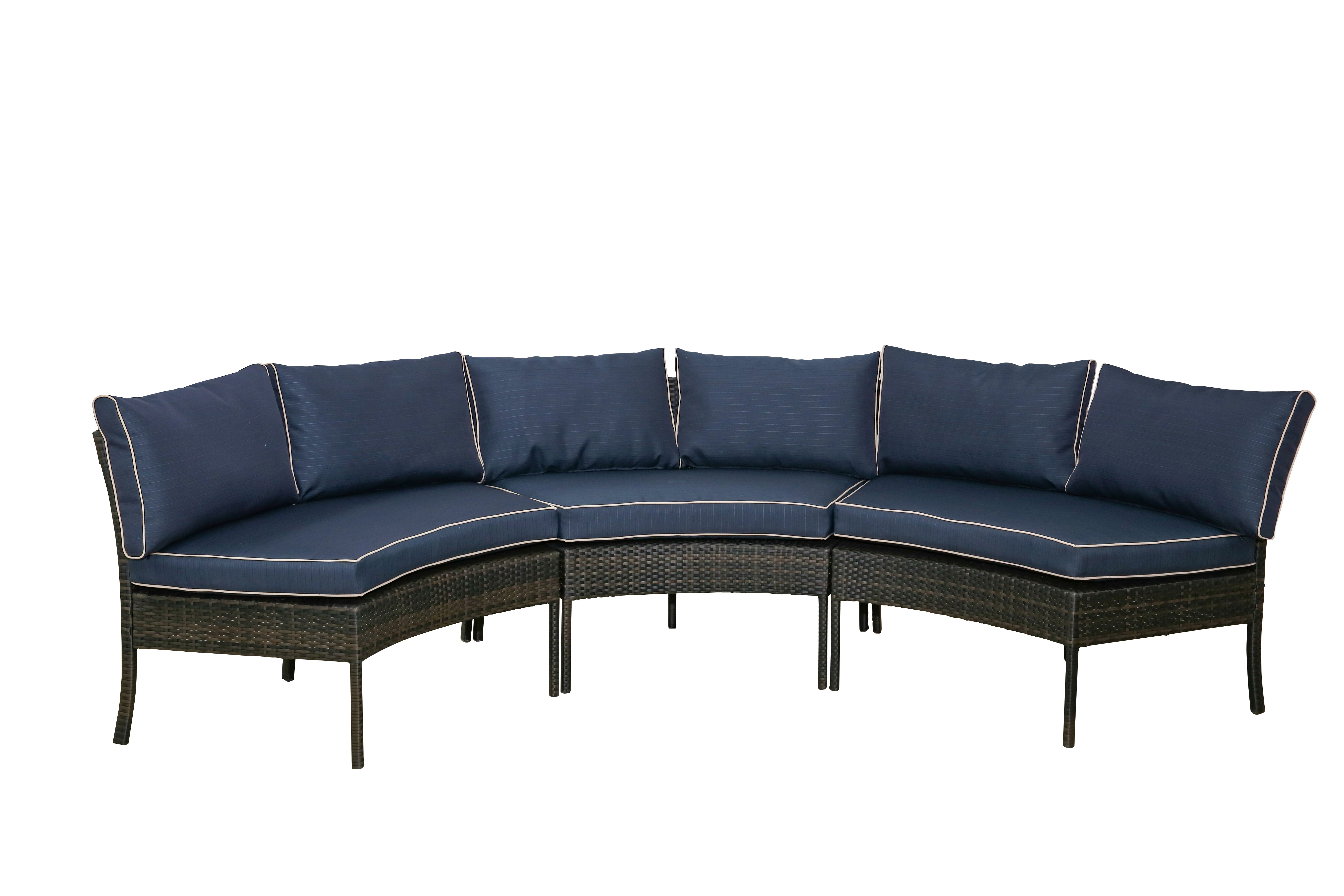 2020 Purington Circular Patio Sectional With Cushions For Purington Circular Patio Sectionals With Cushions (View 3 of 20)