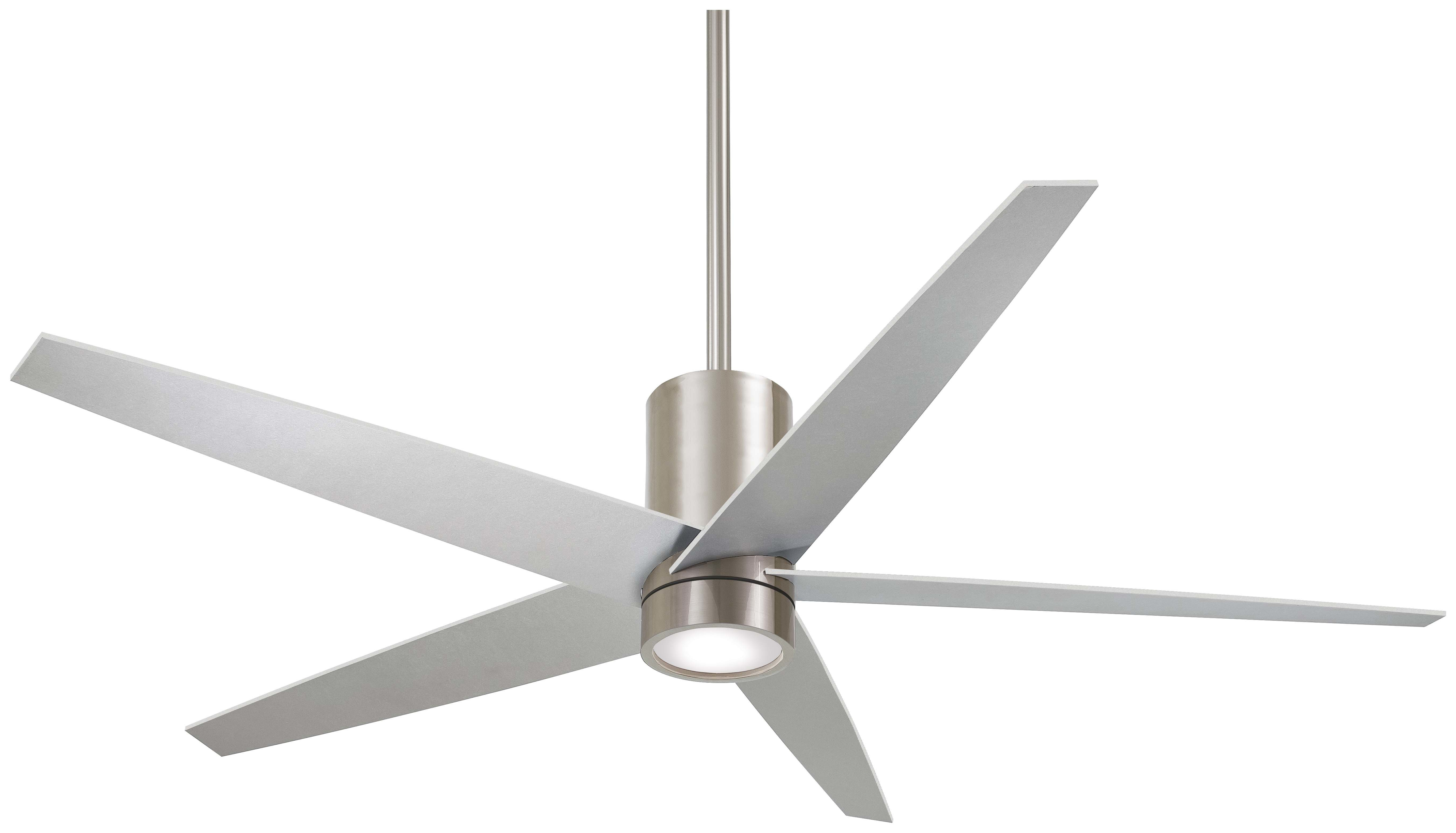 "2020 Raptor 5 Blade Ceiling Fans In 56"" Symbio 5 Blade Led Ceiling Fan With Remote (View 1 of 20)"