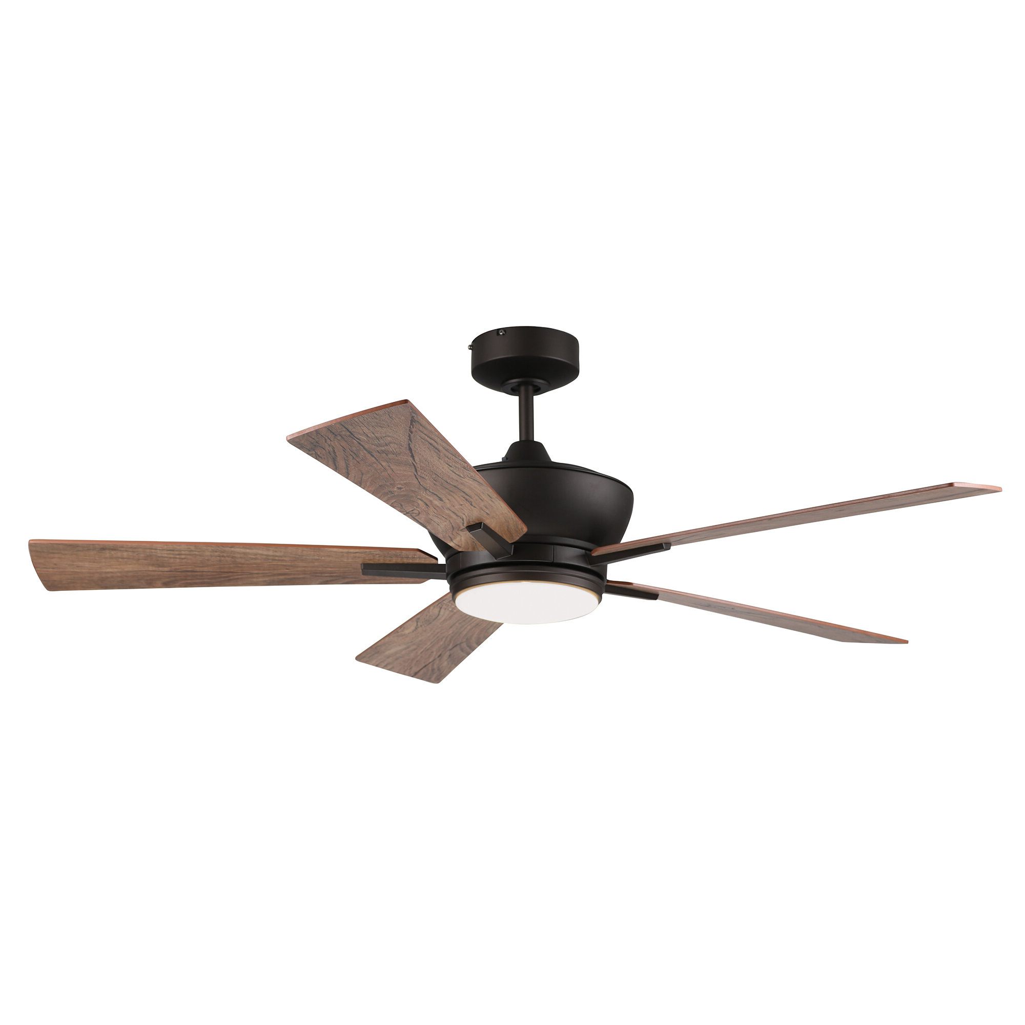 "2020 Sudie 5 Blade Led Ceiling Fans Inside 52"" Georgetown Tri Mount 5 Blade Ceiling Fan With Remote, Light Kit Included (View 19 of 20)"