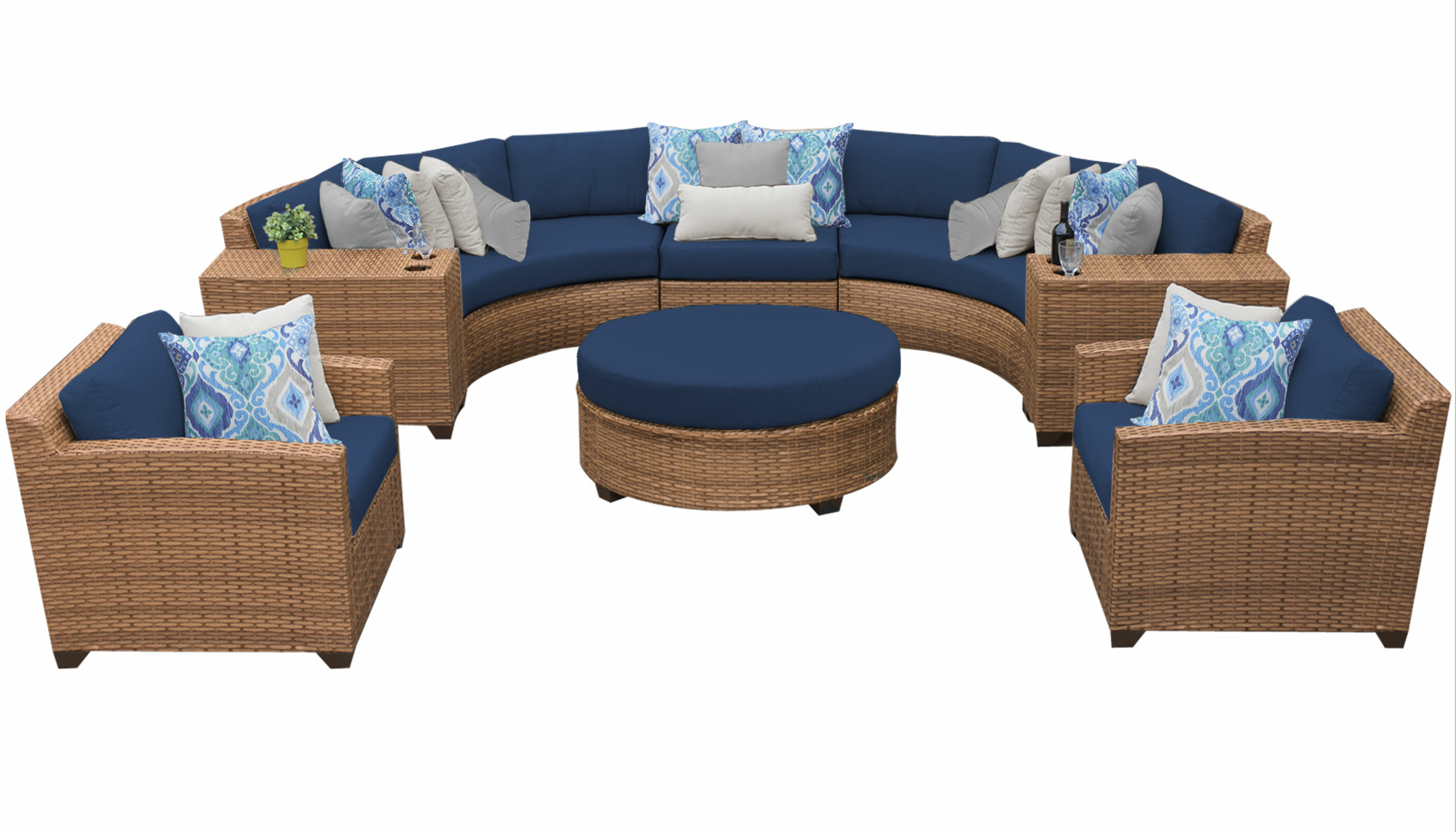 2020 Waterbury Curved Armless Sofa With Cushions Within Waterbury 8 Piece Sectional Seating Group With Cushions (View 3 of 20)