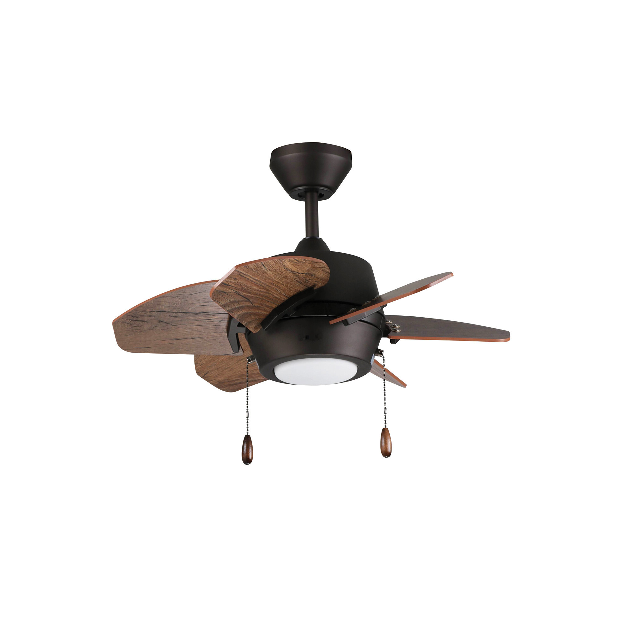 "24"" Lujan Dual Mount 6 Blade Ceiling Fan, Light Kit Included With Regard To Famous Auden 5 Blade Led Ceiling Fans (View 11 of 20)"