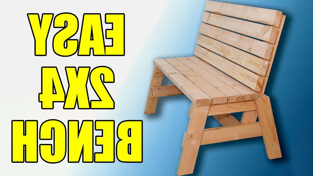 2x4 Sitting Bench – 104 Intended For Trendy Bence Plastic Outdoor Garden Benches (View 23 of 25)