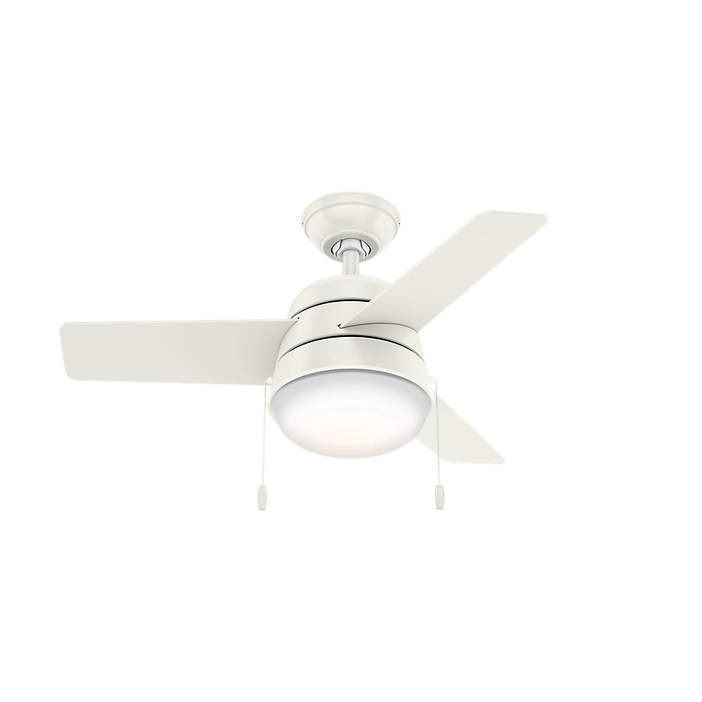 "36"" Aker 3 Blade Led Ceiling Fan, Light Kit Included With Regard To Current Heskett 3 Blade Led Ceiling Fans (Gallery 7 of 20)"