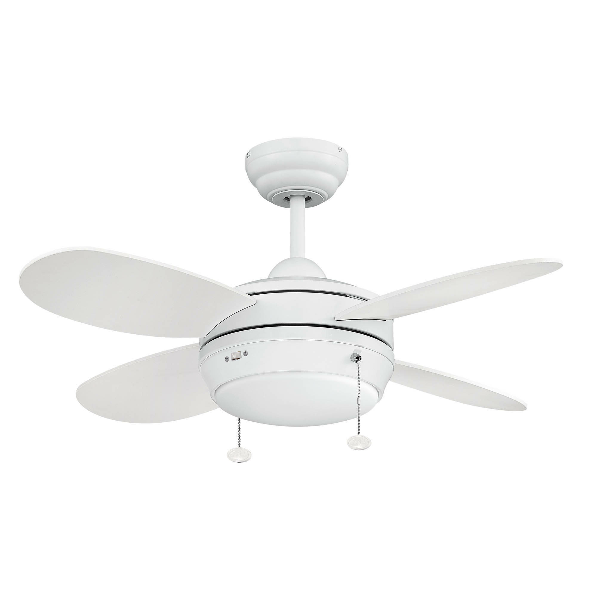 "36"" Kopnisky Dual Mount 4 Blade Ceiling Fan, Light Kit Included Intended For Popular Stewardson 4 Blade Ceiling Fans (View 11 of 20)"