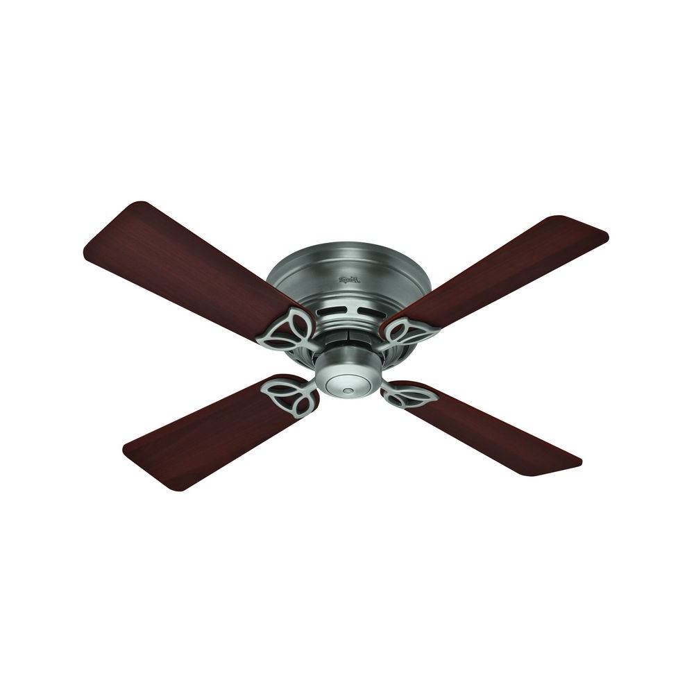 42 Inch Hunter Fan Low Profile Antique Pewter Ceiling Fan Without Light At Destination Lighting With Regard To Famous Low Profile Iv 5 Blade Ceiling Fans (View 13 of 20)