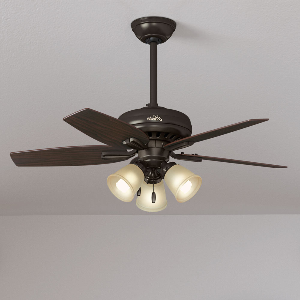 """42"""" Newsome 5 Blade Ceiling Fan, Light Kit Included With Favorite Newsome Low Profile 5 Blade Ceiling Fans (View 3 of 20)"""