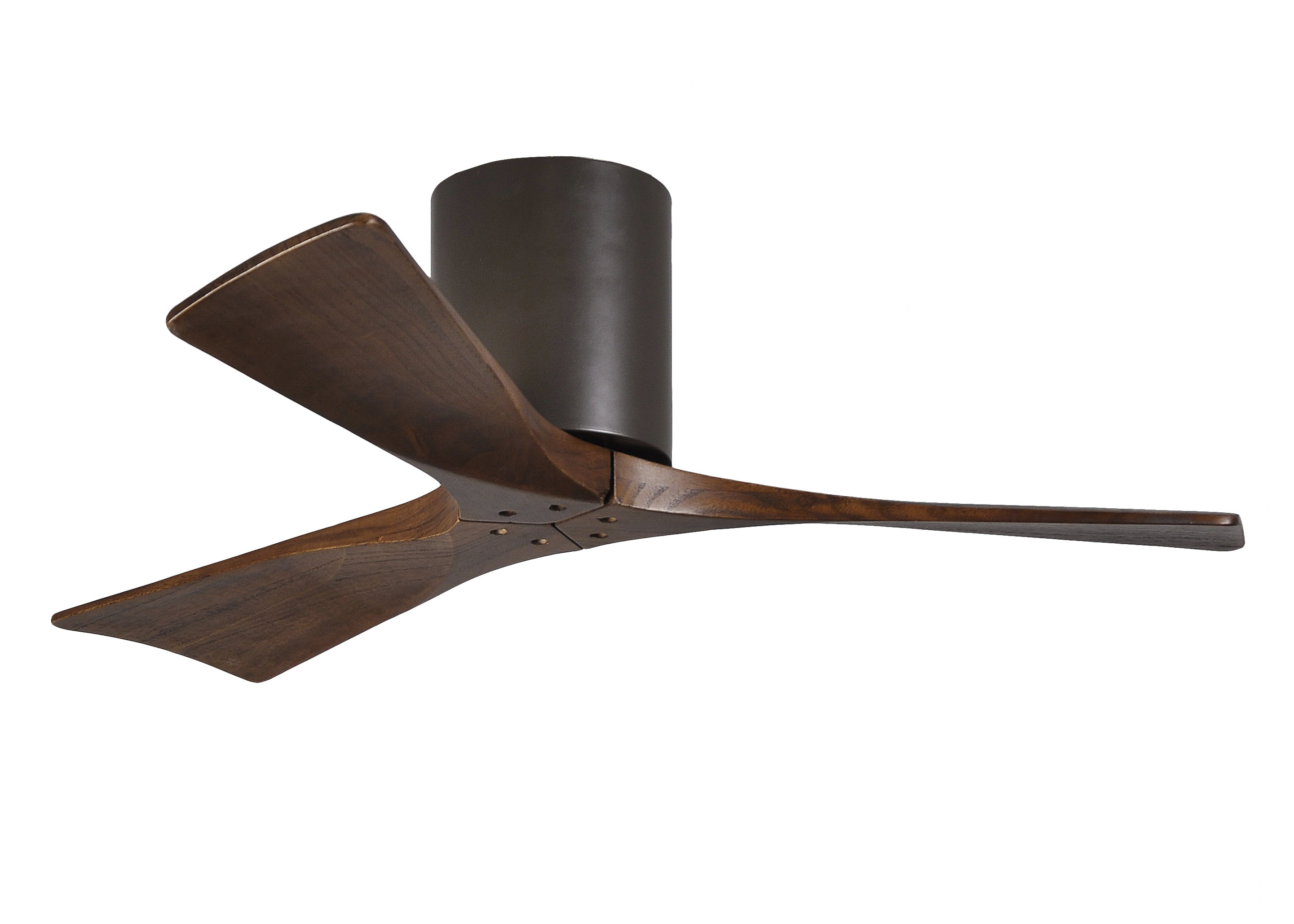 "42"" Trost 3 Blade Hugger Ceiling Fan With Remote Intended For Widely Used Glasgow 7 Blade Ceiling Fans (Gallery 3 of 20)"