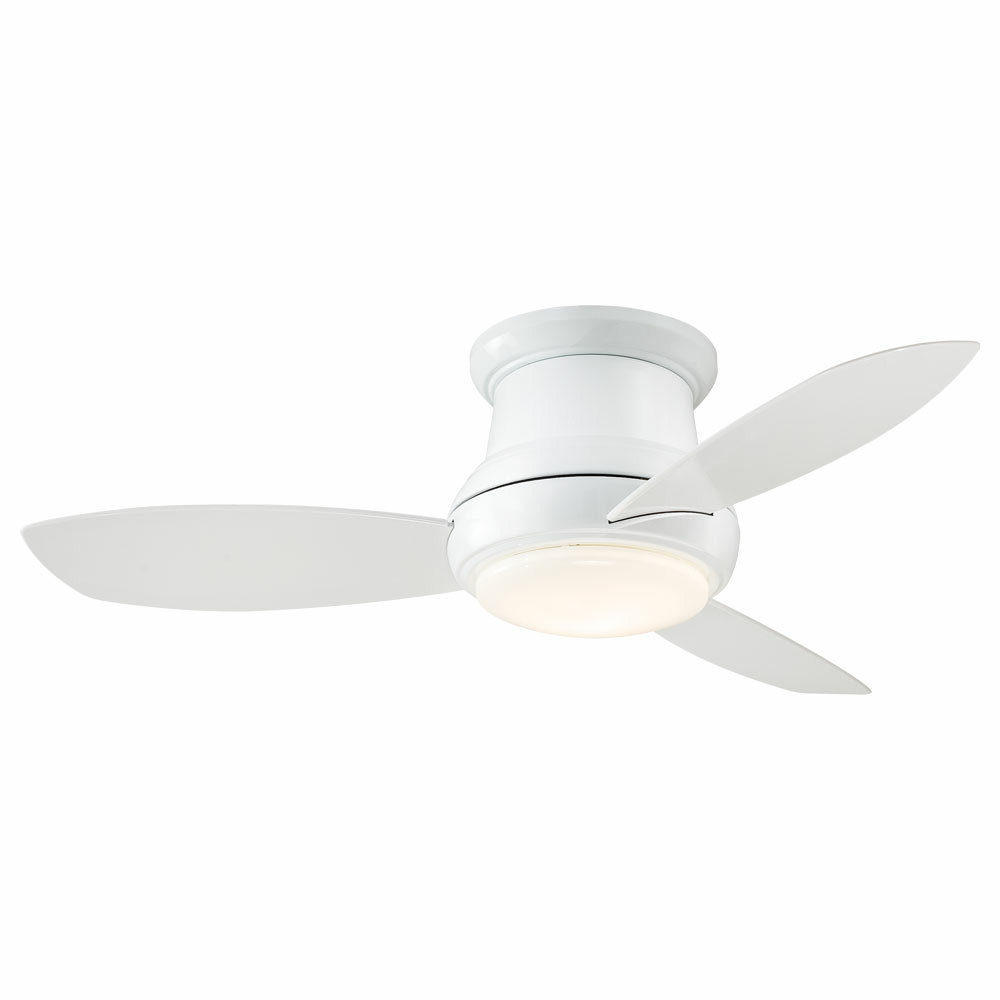 "44"" Concept Ii 3 Blade Ceiling Fan Inside Most Popular Cedarton Hugger 5 Blade Led Ceiling Fans (View 1 of 20)"