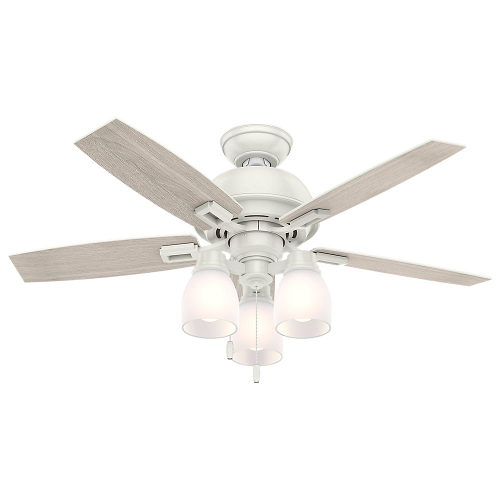 "44"" Donegan 5 Blade Ceiling Fan, Light Kit Included In Current Donegan 5 Blade Ceiling Fans (View 1 of 20)"