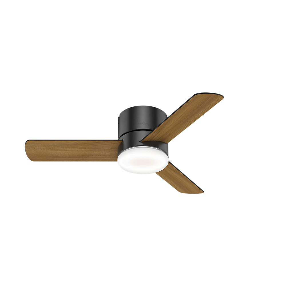 """44"""" Minimus 3 Blade Led Ceiling Fan With Remote, Light Kit Included In Latest Bernabe 3 Blade Ceiling Fans (View 3 of 20)"""