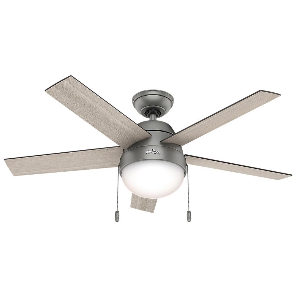 "46"" Anslee 5 Blade Ceiling Fan Light Kit Included With Favorite Anslee 5 Blade Ceiling Fans (View 1 of 20)"