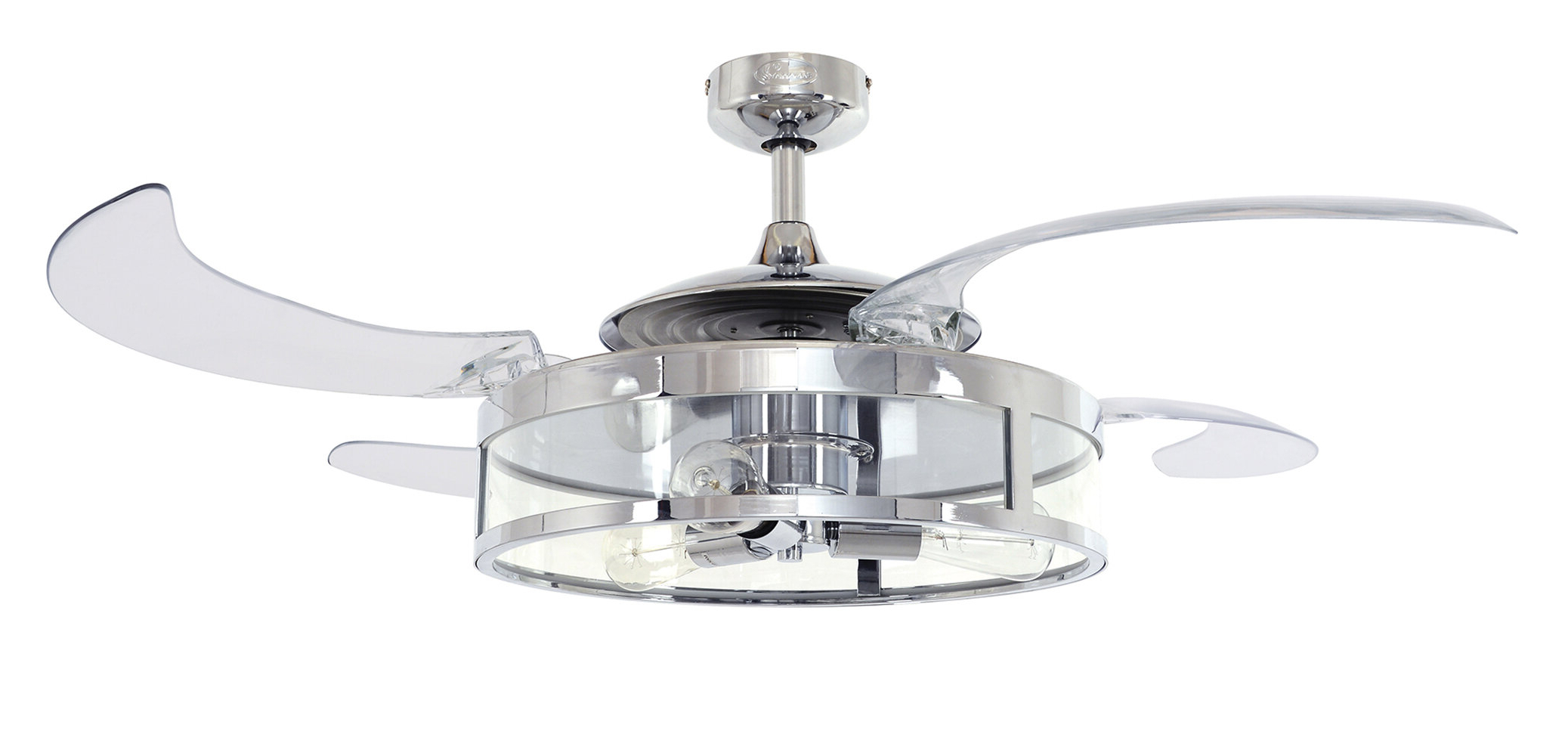Featured Photo of Servantes Retractable 4 Blade Ceiling Fans With Remote