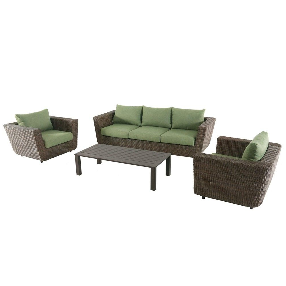 4Pc Greta Seating Set – Royal Garden, Brown (View 6 of 20)