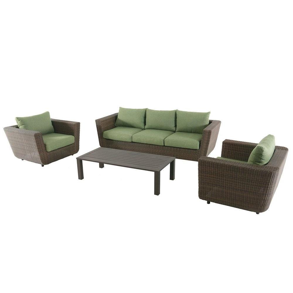 4pc Greta Seating Set – Royal Garden, Brown (View 6 of 20)