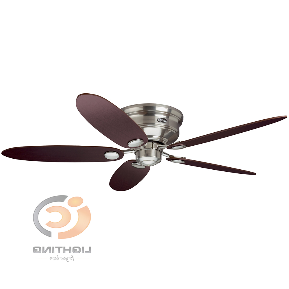 5 Blade Ceiling Fans With Regard To Newest Hunter – Low Profile Iii 52'' 5 Blades Ceiling Fan (Gallery 12 of 20)