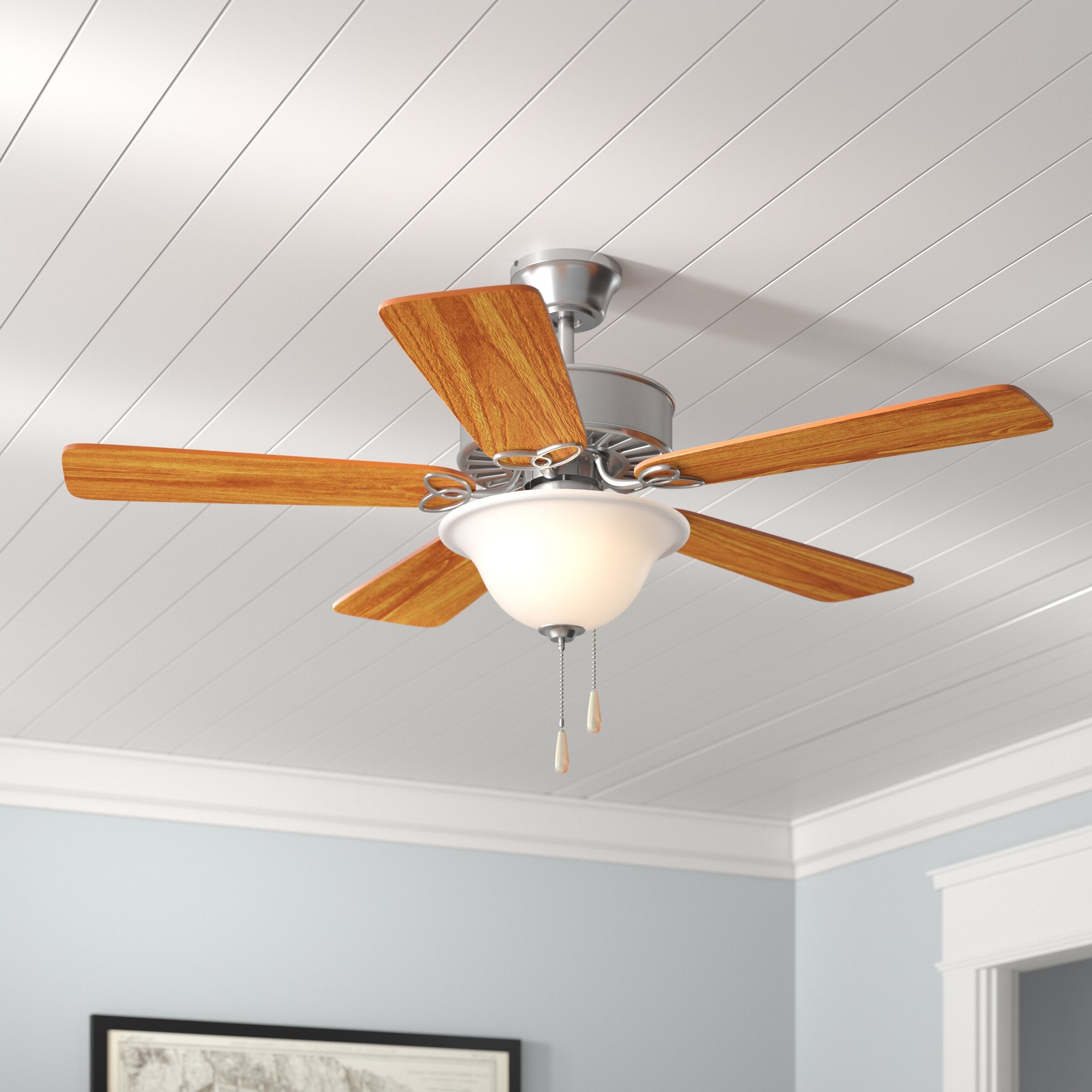 "50"" Borgen Traditional 5 Blade Ceiling Fan For Favorite Eliora 5 Blade Ceiling Fans (View 13 of 20)"