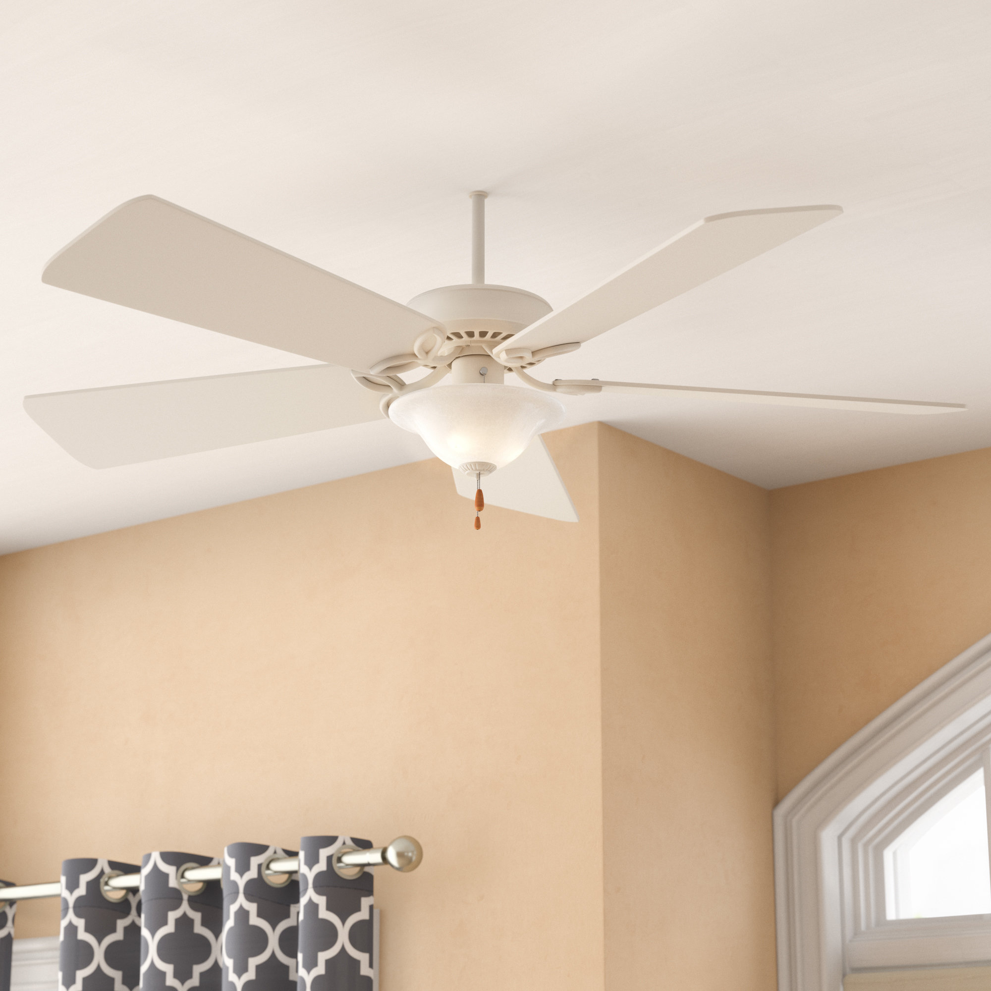 "50"" Eliora 5 Blade Ceiling Fan, Light Kit Included With Current Eliora 5 Blade Ceiling Fans (View 3 of 20)"