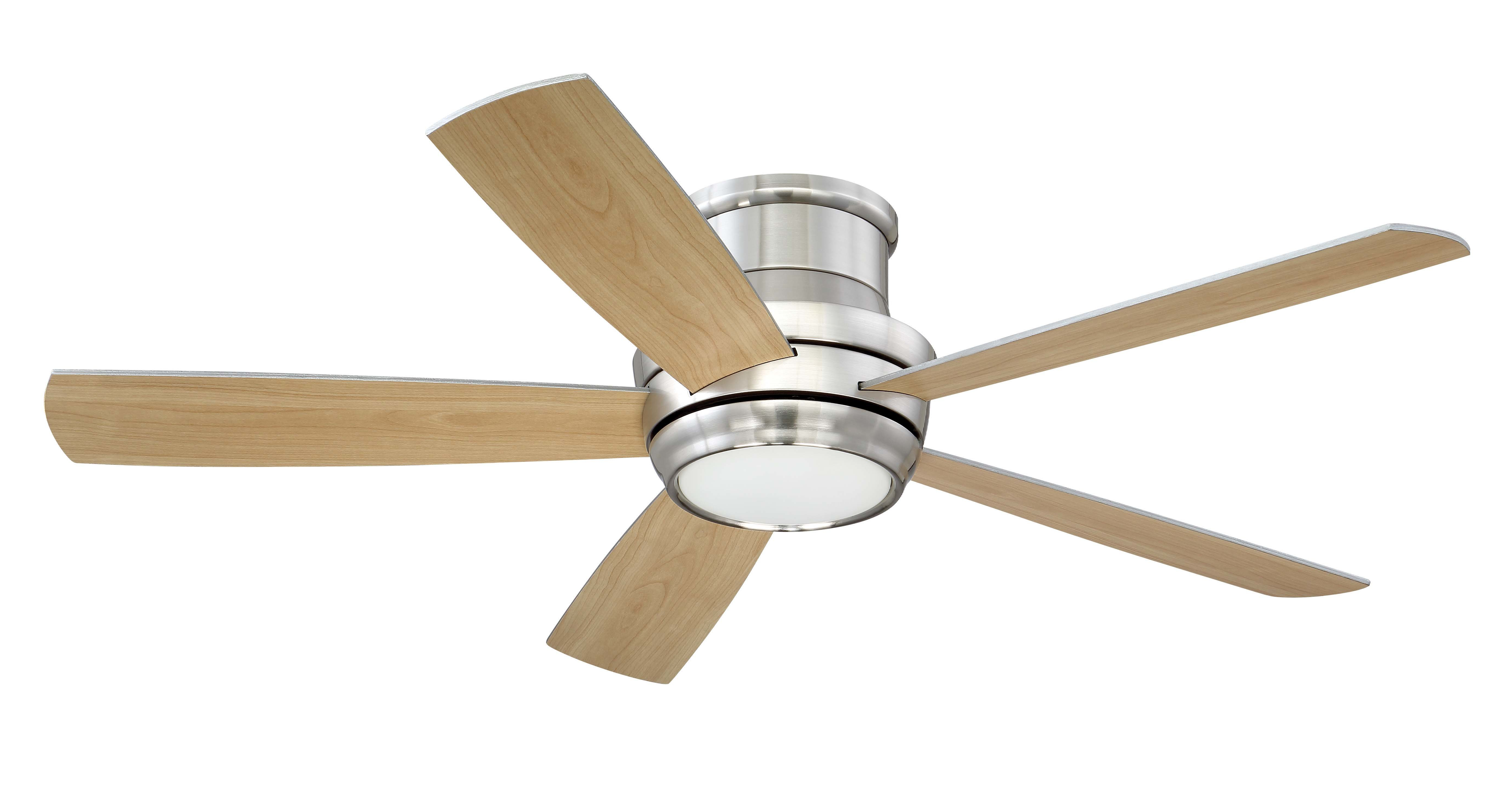"""52"""" Cedarton 5 Blade Led Ceiling Fan With Remote, Light Kit Included Inside Widely Used The Kensington 5 Blade Ceiling Fans (View 12 of 20)"""