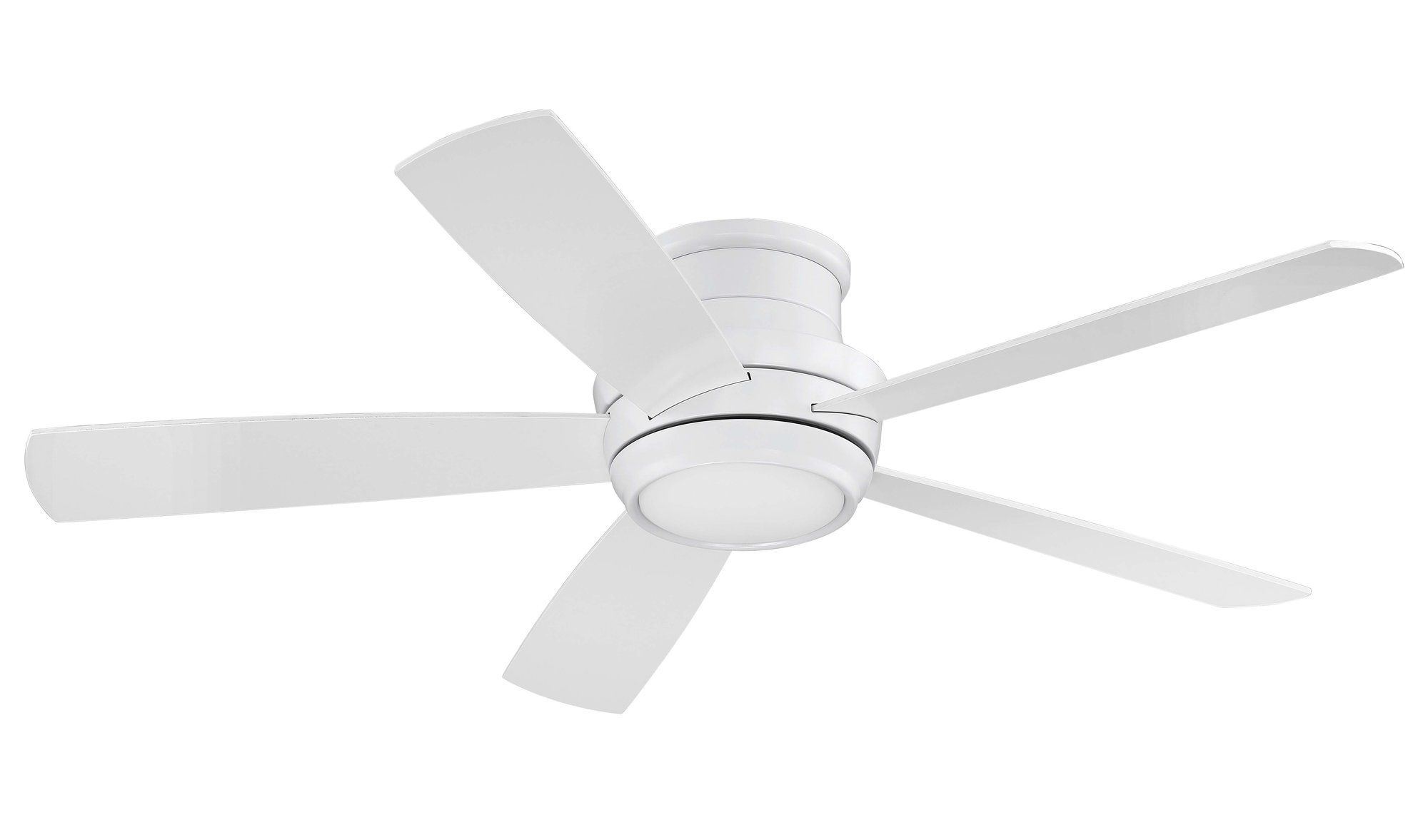 "52"" Cedarton Hugger 5 Blade Ceiling Fan With Remote, Light Inside Preferred Cedarton 5 Blade Led Ceiling Fans (View 3 of 20)"