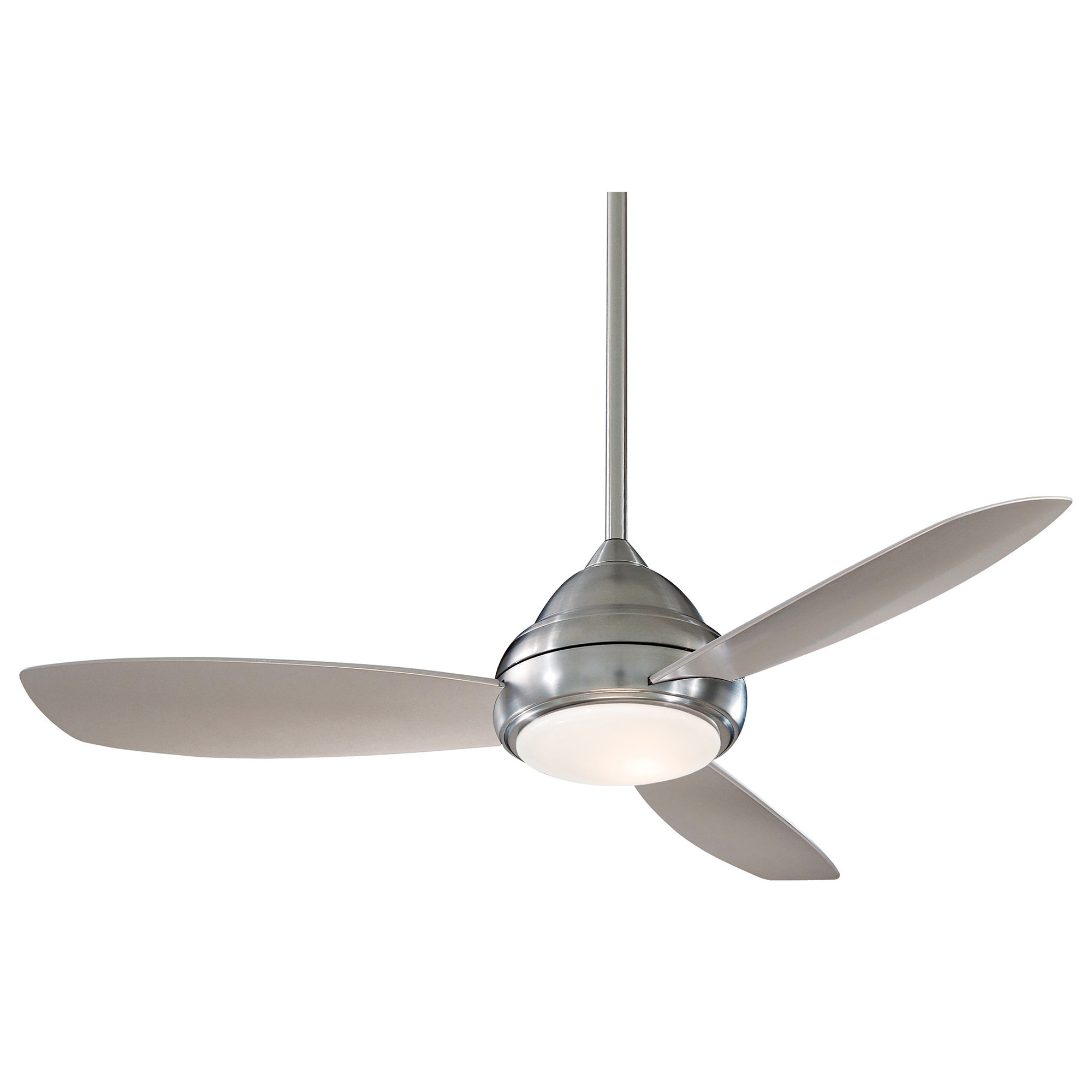 "52"" Concept 3 Blade Ceiling Fan With Remote In Latest Acero Retro 3 Blade Led Ceiling Fans (View 7 of 20)"