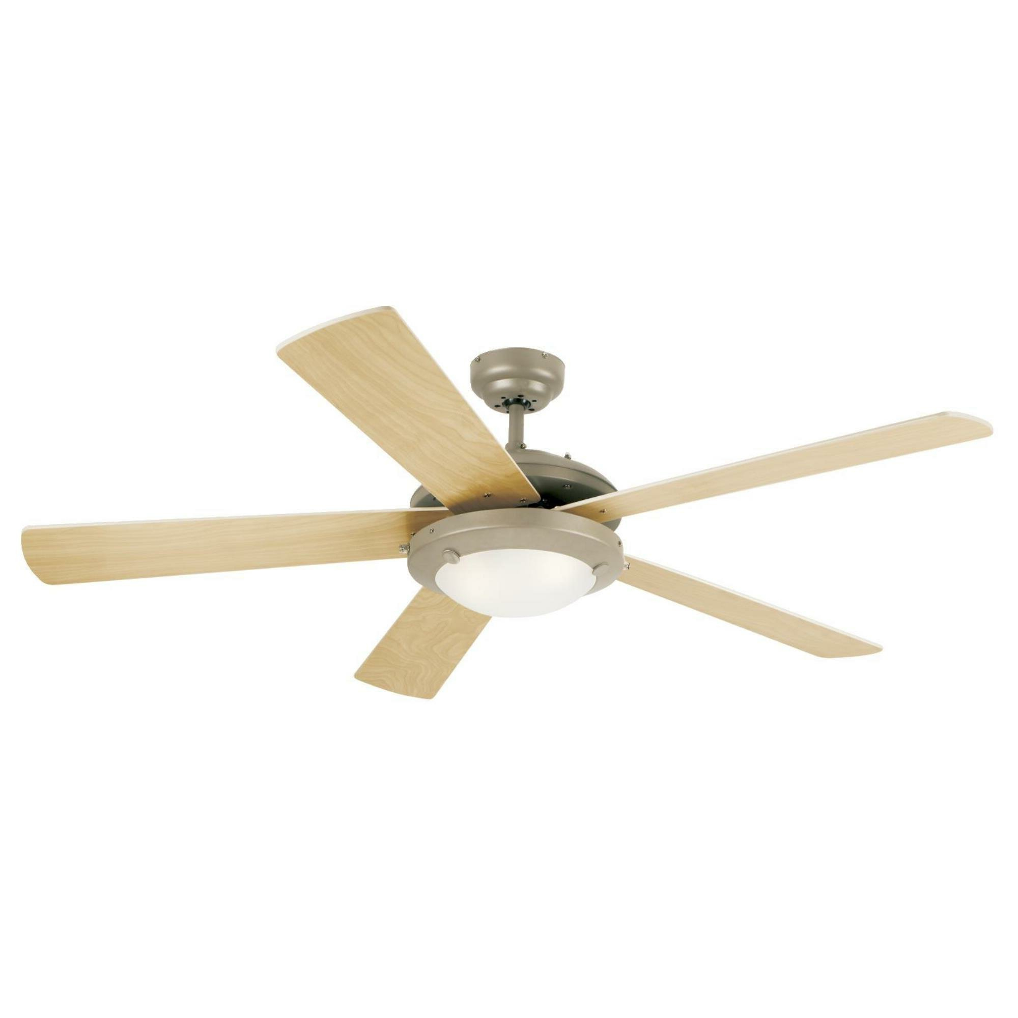 "52"" Creslow 5 Blade Ceiling Fan, Light Kit Included Intended For Fashionable Beltran 5 Blade Ceiling Fans (View 18 of 20)"