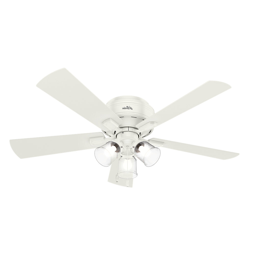"52"" Crestfield 5 Blade Led Ceiling Fan, Light Kit Included Pertaining To Most Current Crestfield 5 Blade Led Ceiling Fans (View 3 of 20)"