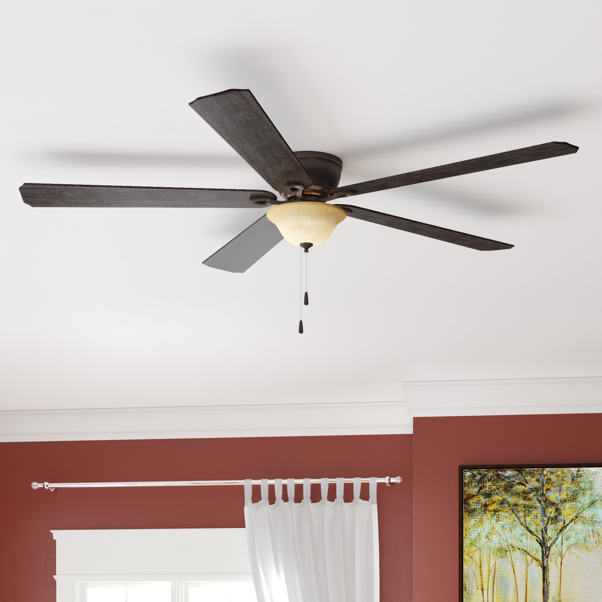 "52"" Crumbley 5 Blade Ceiling Fan, Light Kit Included Throughout Popular Crumbley 5 Blade Ceiling Fans (Gallery 1 of 20)"