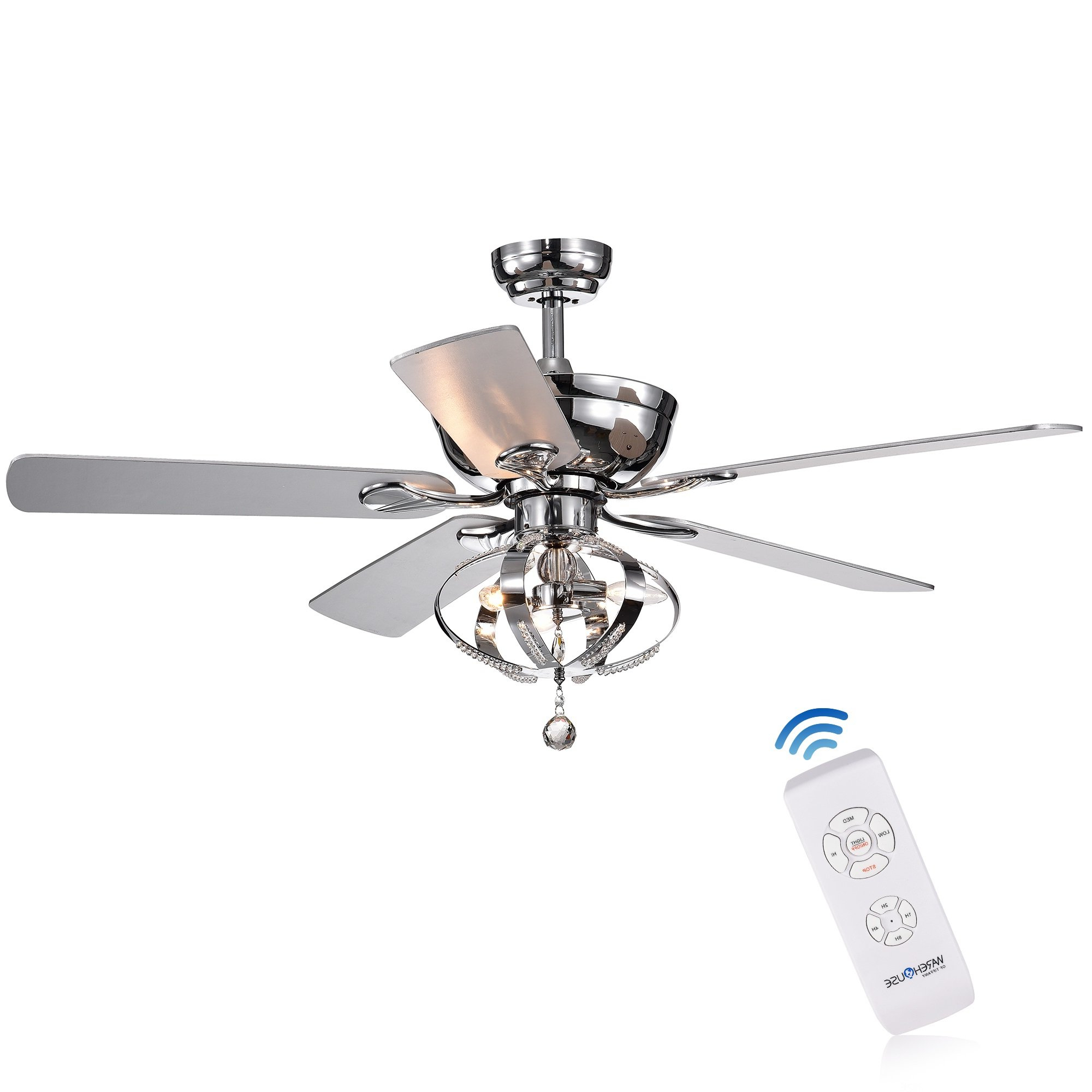 """52"""" Davies 5 Blade Ceiling Fan With Remote Intended For Most Recently Released 5 Blade Ceiling Fans With Remote (Gallery 4 of 20)"""