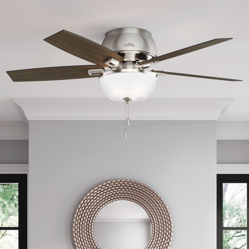 "52"" Donegan 5 Blade Ceiling Fan, Light Kit Included For Most Current Mccarthy 5 Blade Ceiling Fans (View 5 of 20)"