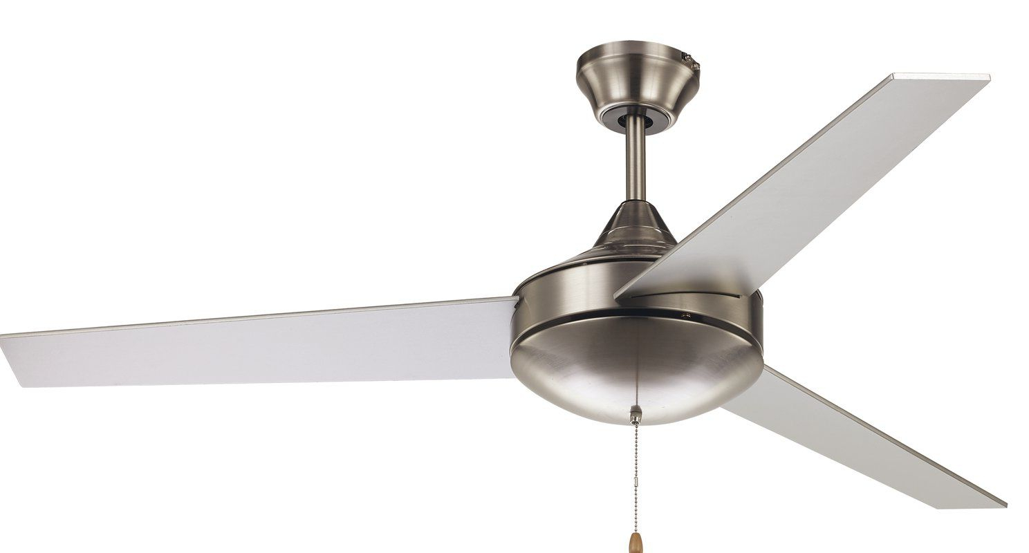 """52"""" Everson 3 Blade Ceiling Fan In  (View 2 of 20)"""