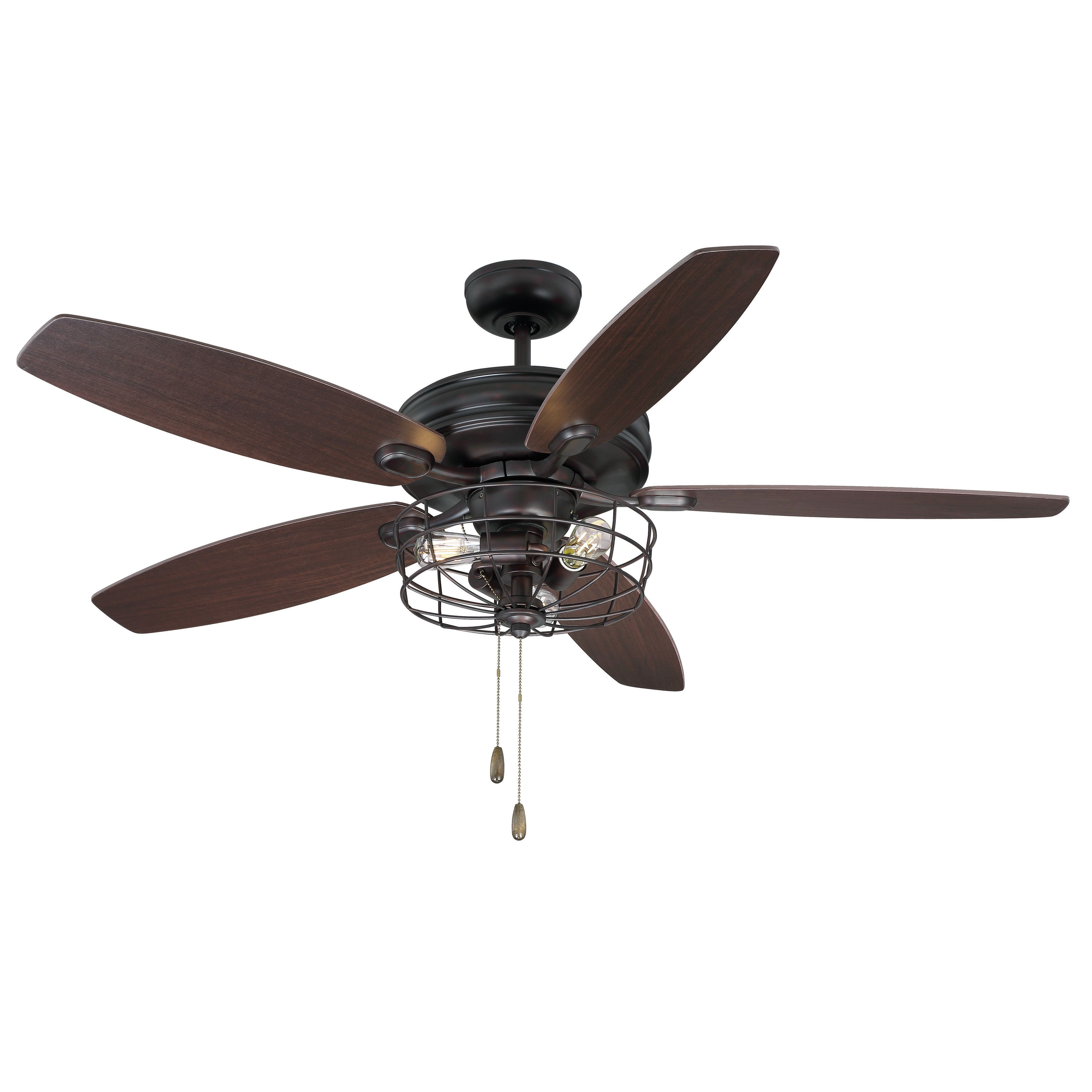 """52"""" Glenpool 5 Blade Ceiling Fan, Light Kit Included Pertaining To Widely Used Roberts 5 Blade Ceiling Fans (View 3 of 20)"""