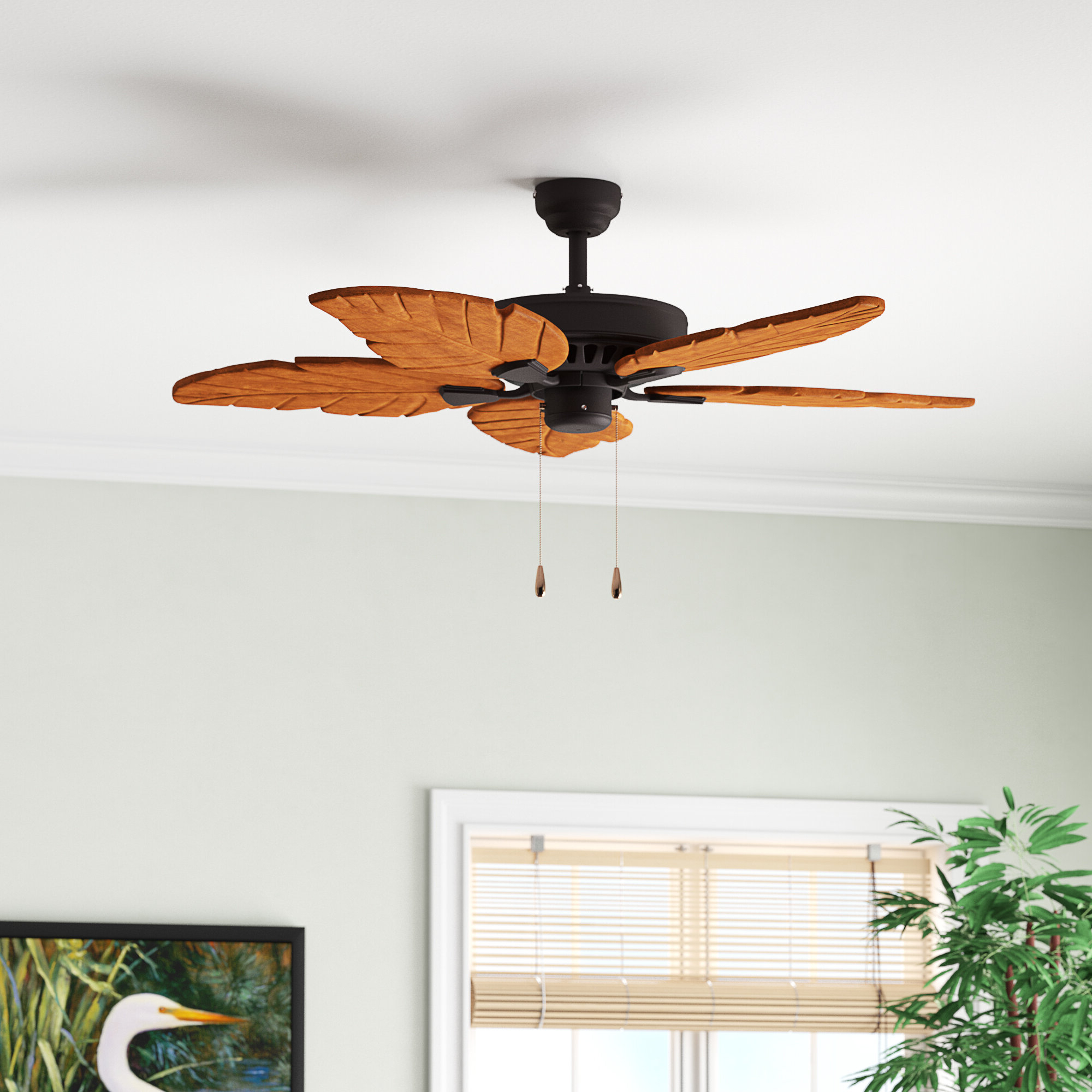 "52"" Killingworth 5 Blade Indoor Ceiling Fan Inside Current Kalista 5 Blade Ceiling Fans (View 9 of 20)"