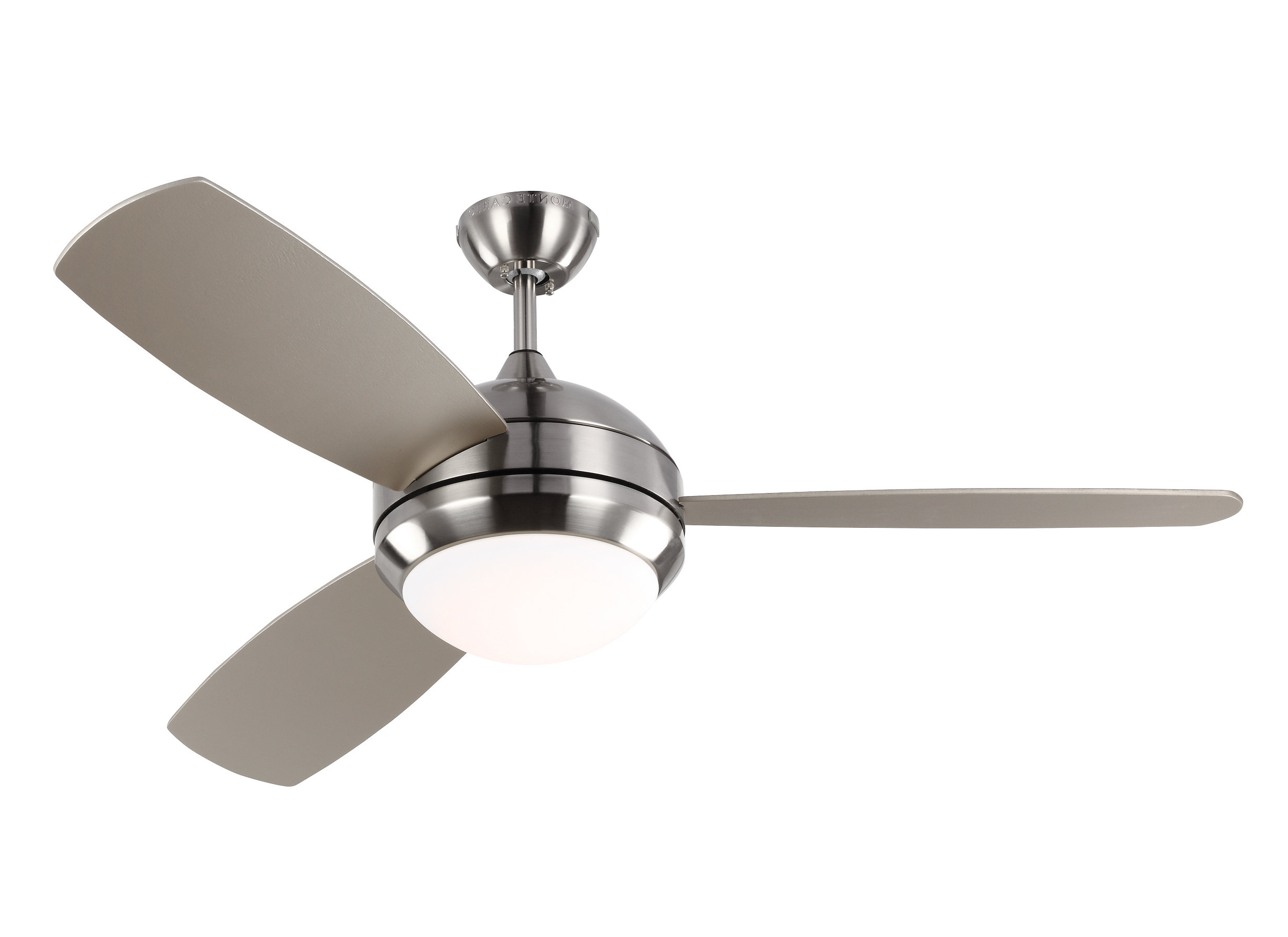 "52"" Lamptrai 3 Blade Led Ceiling Fan With Remote And Light Kit In Trendy Bernabe 3 Blade Ceiling Fans (View 6 of 20)"