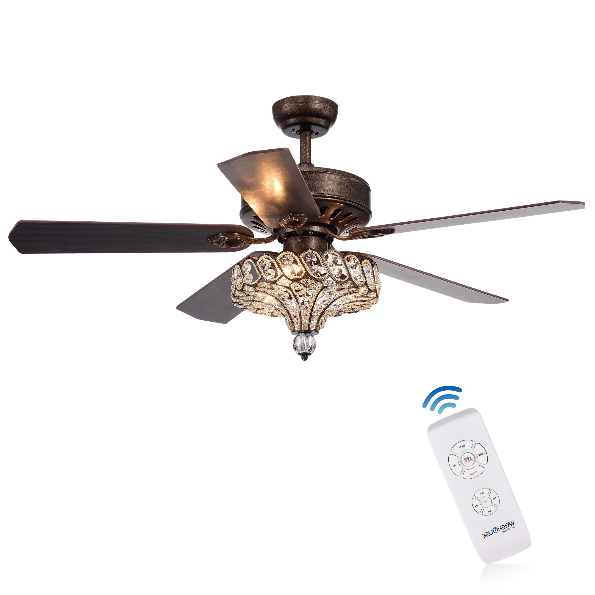 "52"" Menzies 5 Blade Ceiling Fan With Remote With Most Up To Date 5 Blade Ceiling Fans (View 20 of 20)"