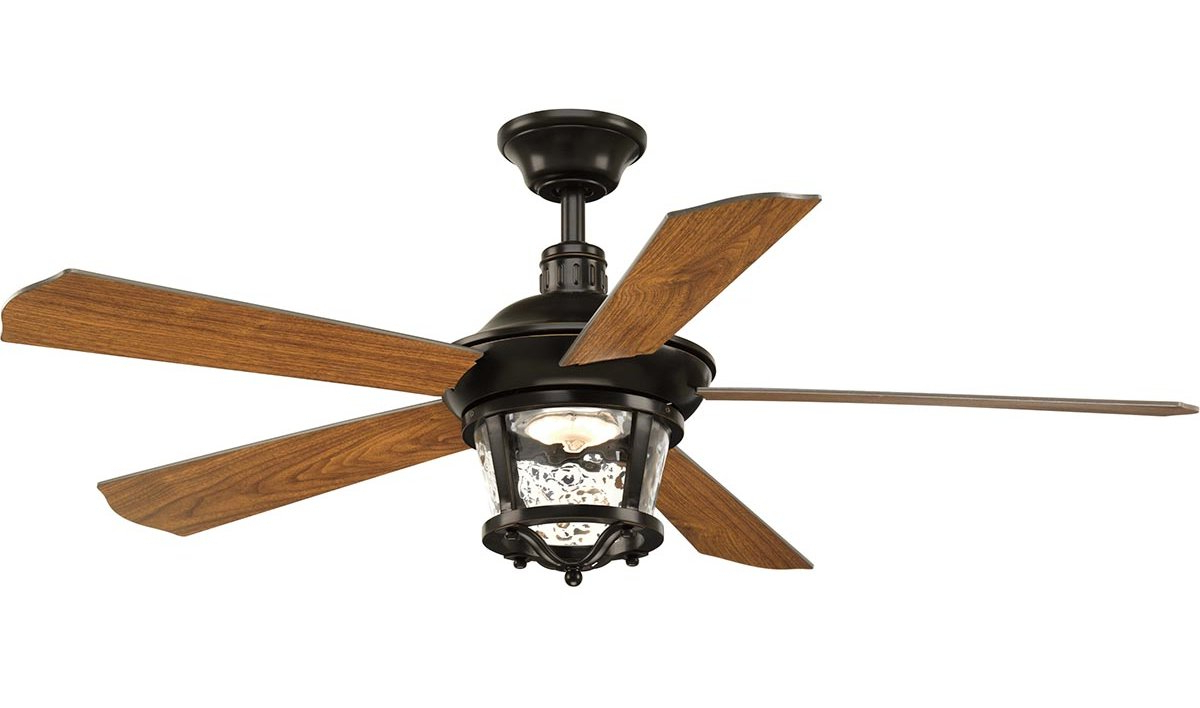 "52"" Mueller 5 Blade Outdoor Ceiling Fan Within Most Recently Released Blomquist 5 Blade Outdoor Ceiling Fans (Gallery 11 of 20)"
