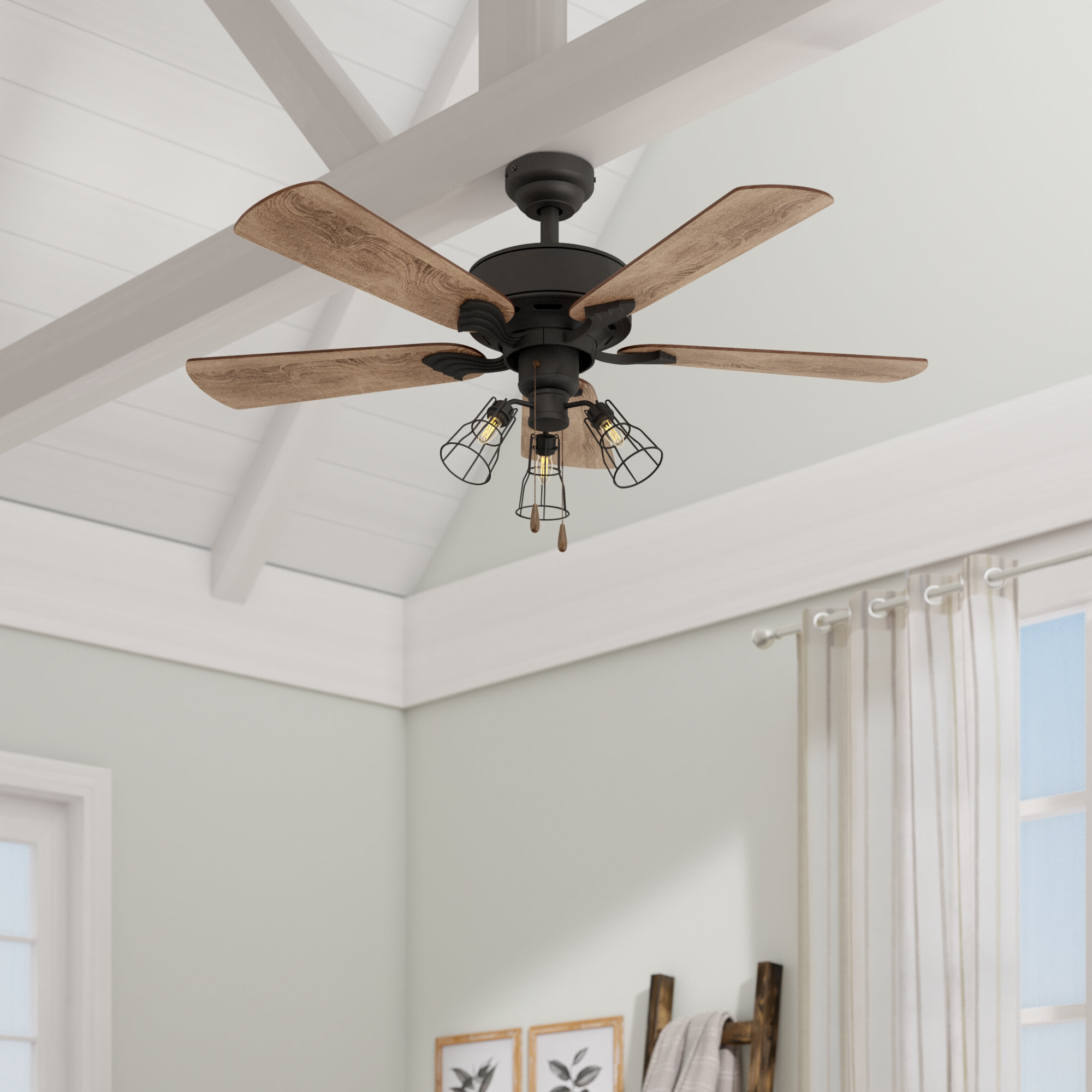 "52"" Rankins 5 Blade Led Ceiling Fan Inside Most Current Ravello 5 Blade Led Ceiling Fans (View 4 of 20)"