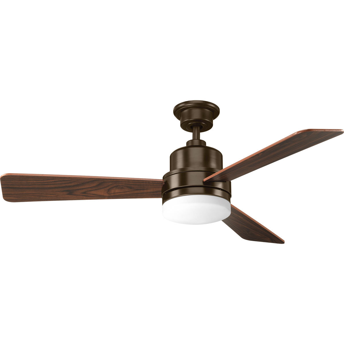 "52"" Rathburn 3 Blade Ceiling Fan, Light Kit Included Intended For Fashionable Dennis 3 Blade Ceiling Fans (View 5 of 20)"