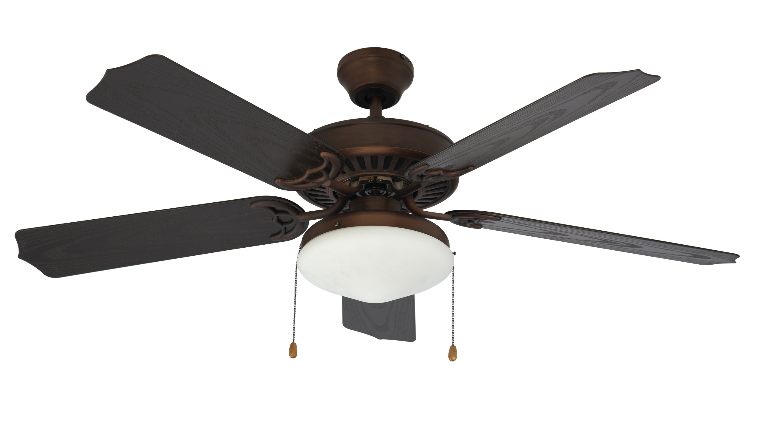 "52"" Wein 5 Blade Ceiling Fan, Light Kit Included Intended For Fashionable Mattias 5 Blade Ceiling Fans (View 15 of 20)"