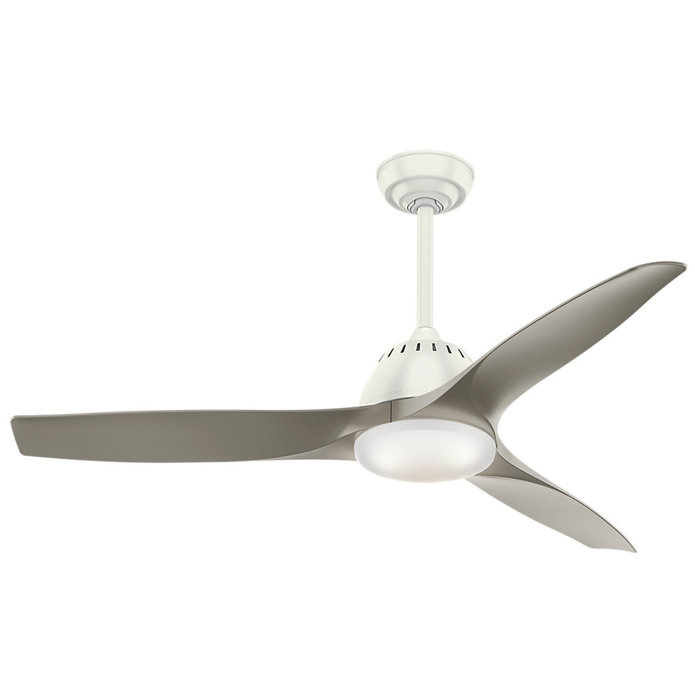 "52"" Wilderness Wisp 3 Blade Led Ceiling Fan With Remote Inside Current Heskett 3 Blade Led Ceiling Fans (View 15 of 20)"