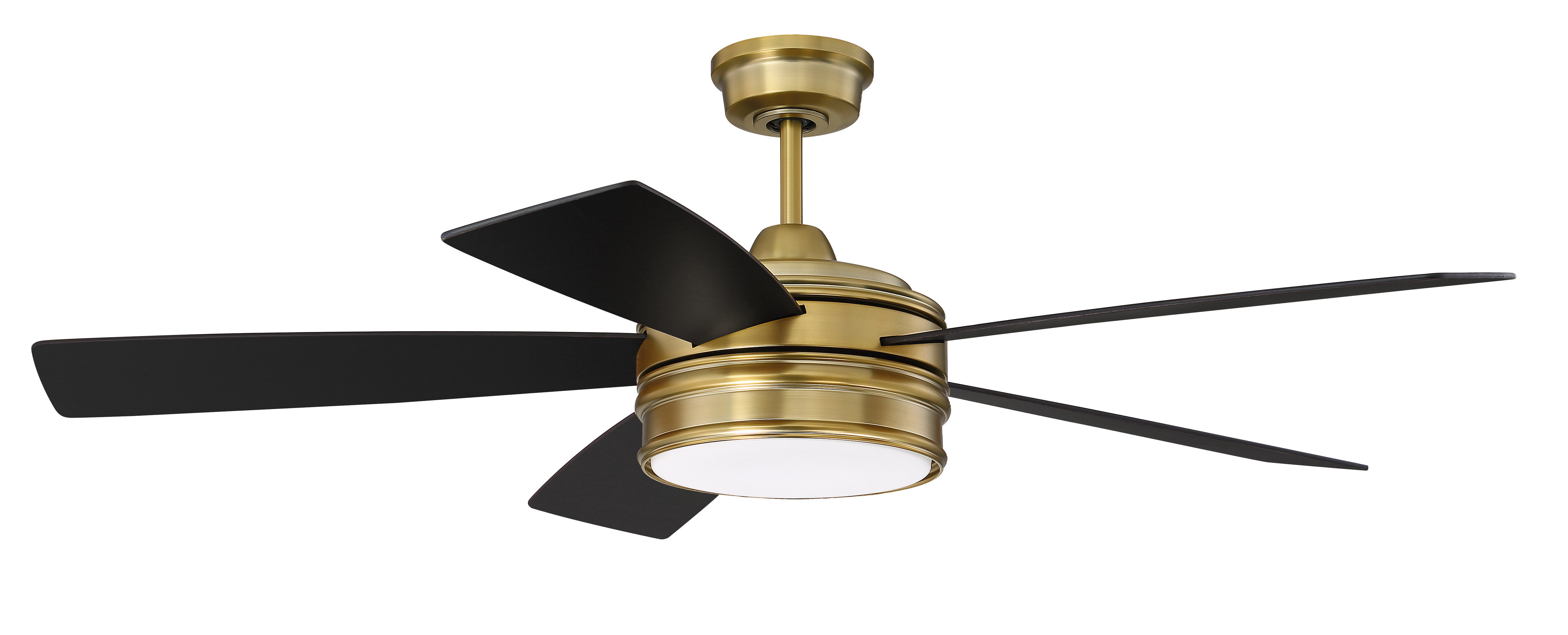 """52"""" Winchcombe 5 Blade Led Ceiling Fan With Remote Light Kit Regarding Preferred Sentinel 3 Blade Led Ceiling Fans With Remote (View 3 of 20)"""