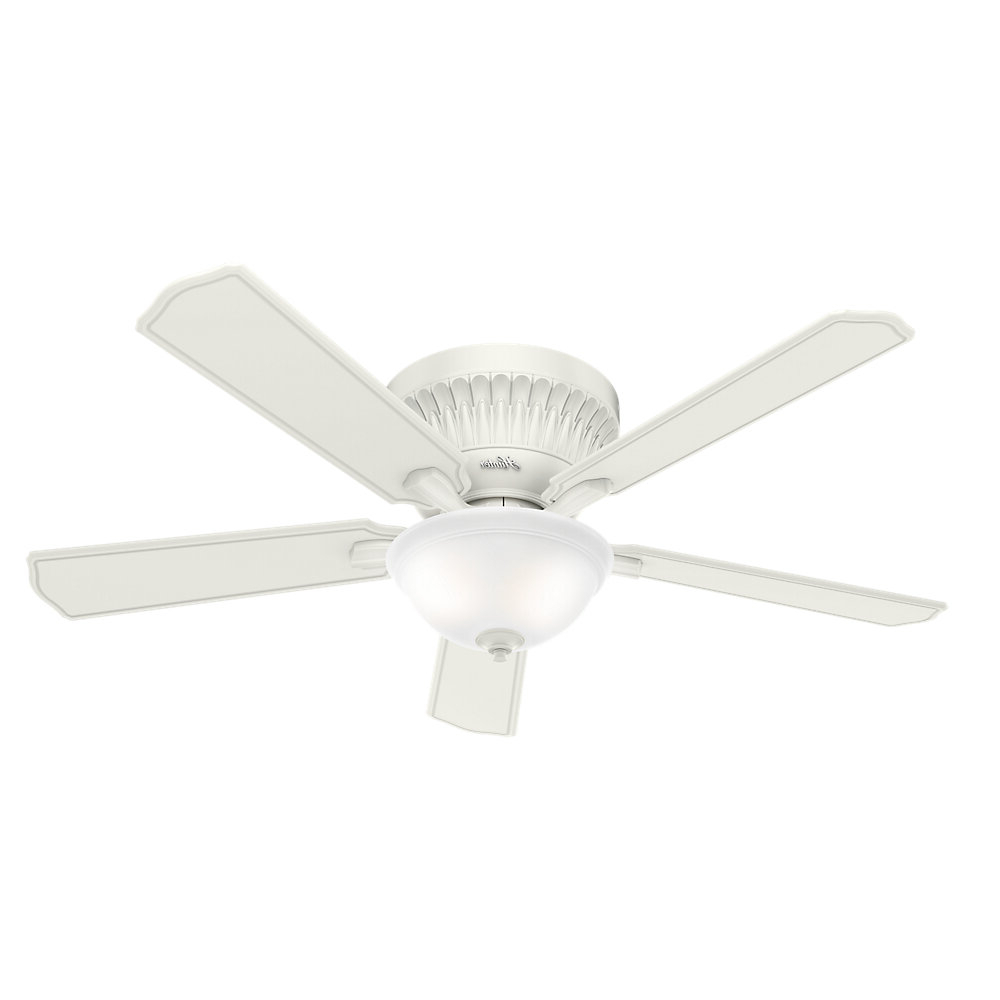 "54"" Chauncey 5 Blade Ceiling Fan With Remote, Light Kit Included Regarding Best And Newest Hatherton 5 Blade Ceiling Fans (View 13 of 20)"