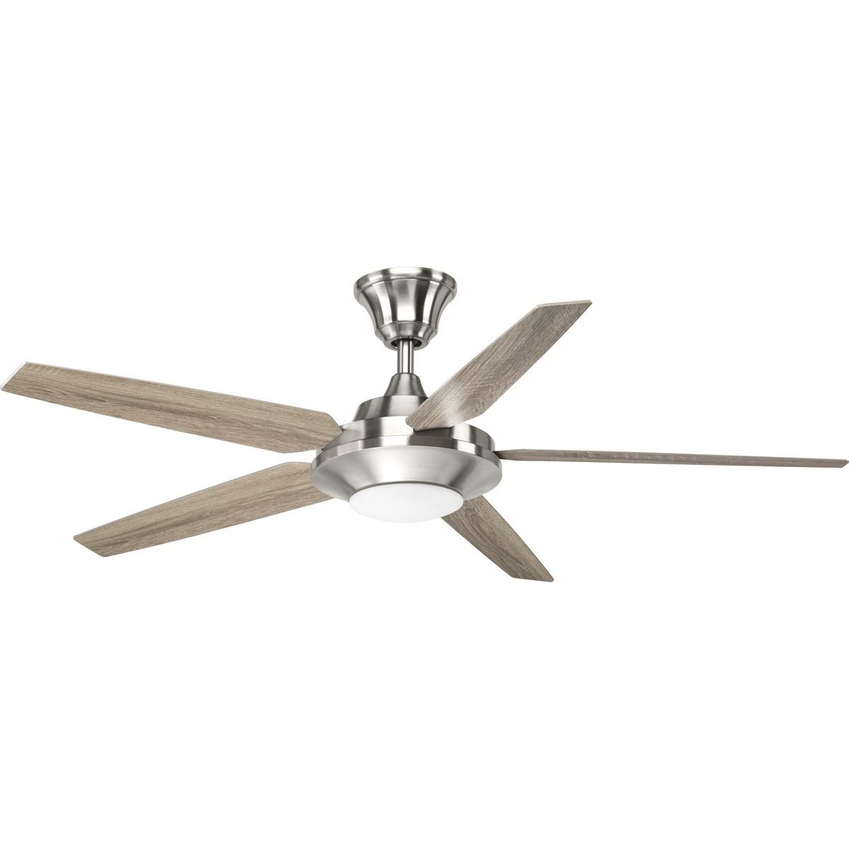 "54"" Searles 5 Blade Led Ceiling Fan With Remote, Light Kit Included For Recent Calkins 5 Blade Ceiling Fans (View 16 of 20)"