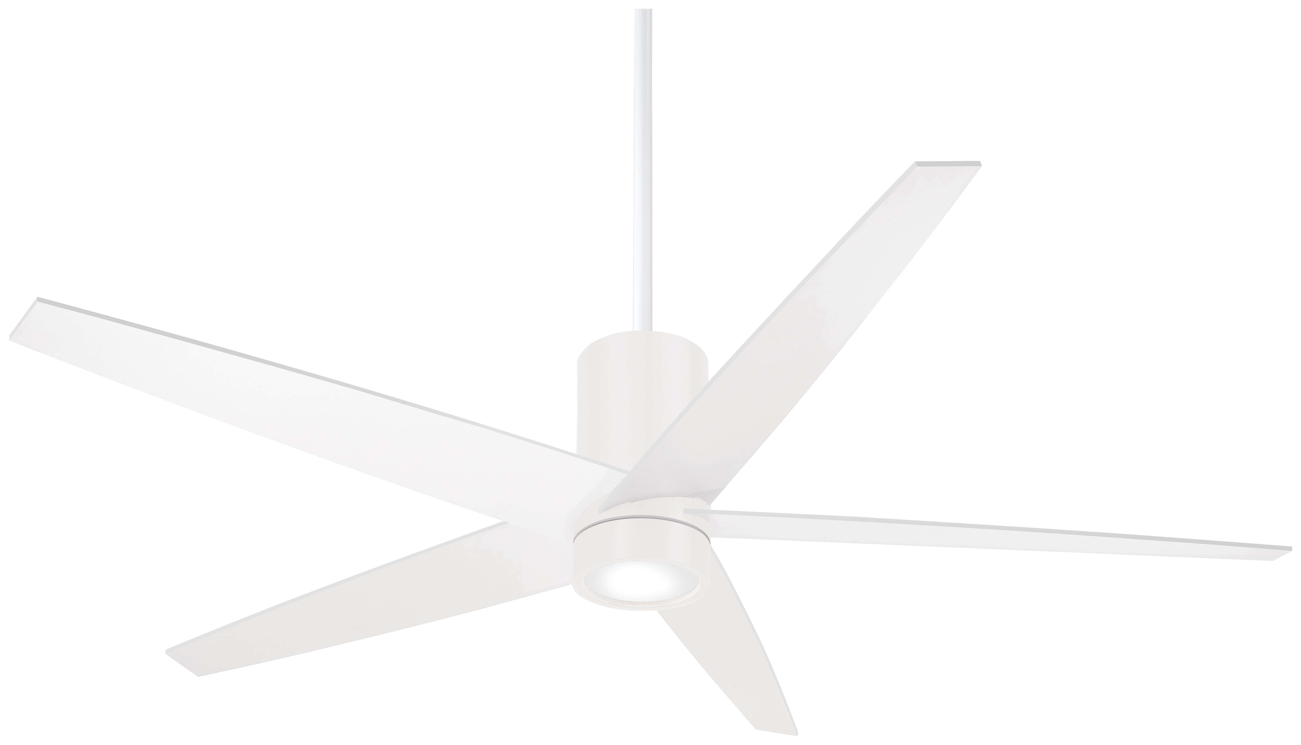 "56"" Symbio 5 Blade Led Ceiling Fan With Remote Regarding Fashionable Raptor 5 Blade Ceiling Fans (View 3 of 20)"