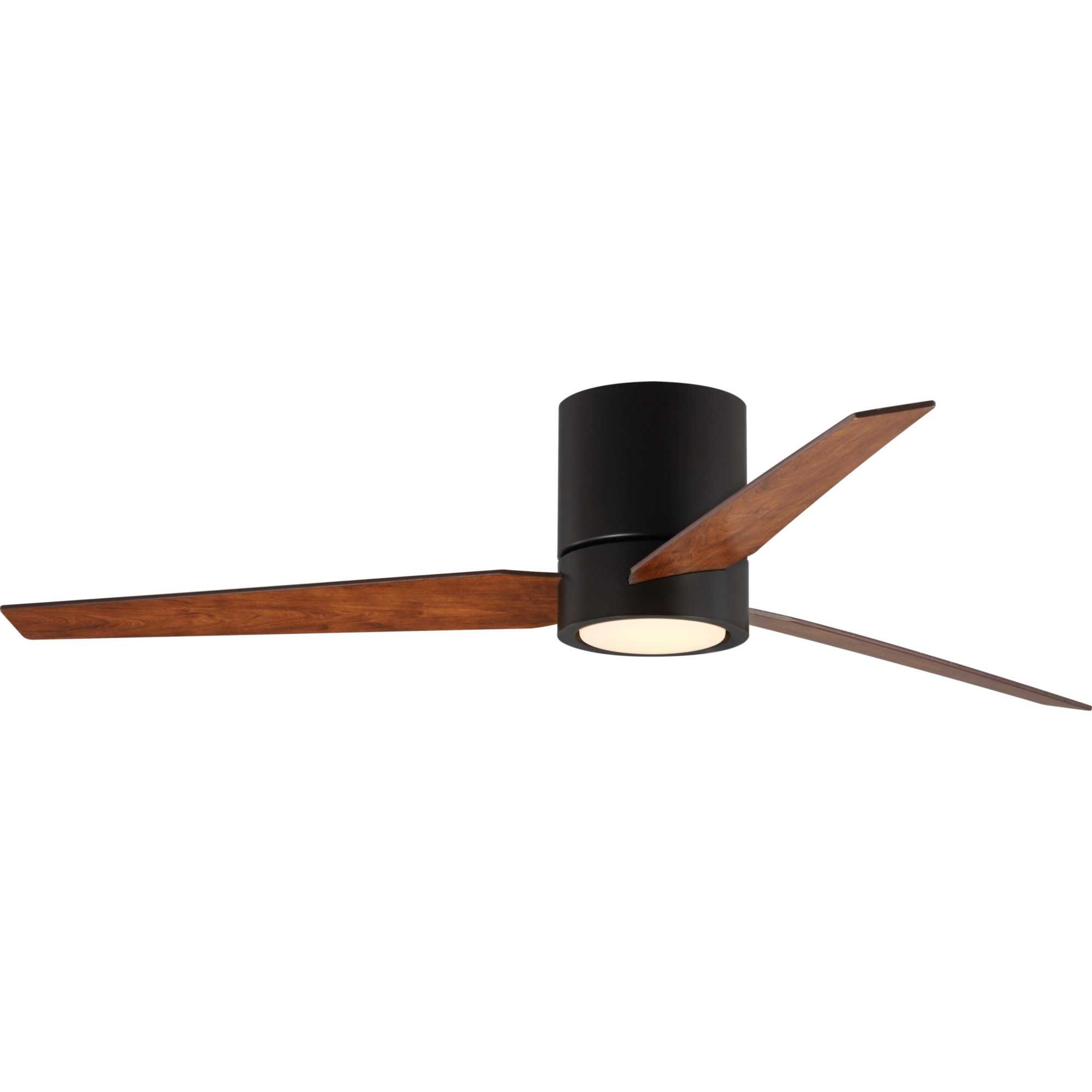 """56"""" Tucker Hugger 3 Blade Led Ceiling Fan With Remote, Light Kit Included In Favorite Theron Catoe 3 Blade Ceiling Fans (View 2 of 20)"""